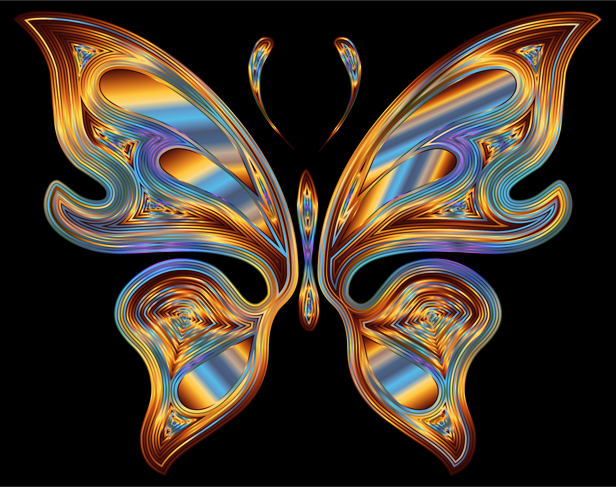 Prismatic Butterfly 13 Variation 5 by GDJ