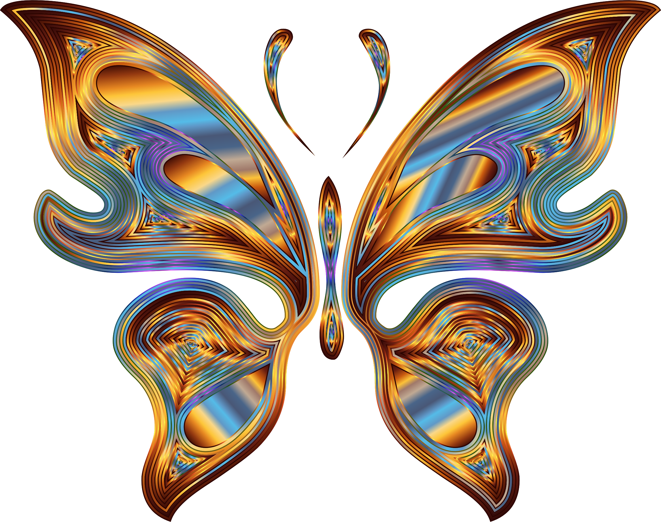 Prismatic Butterfly 13 Variation 5 No Background by GDJ