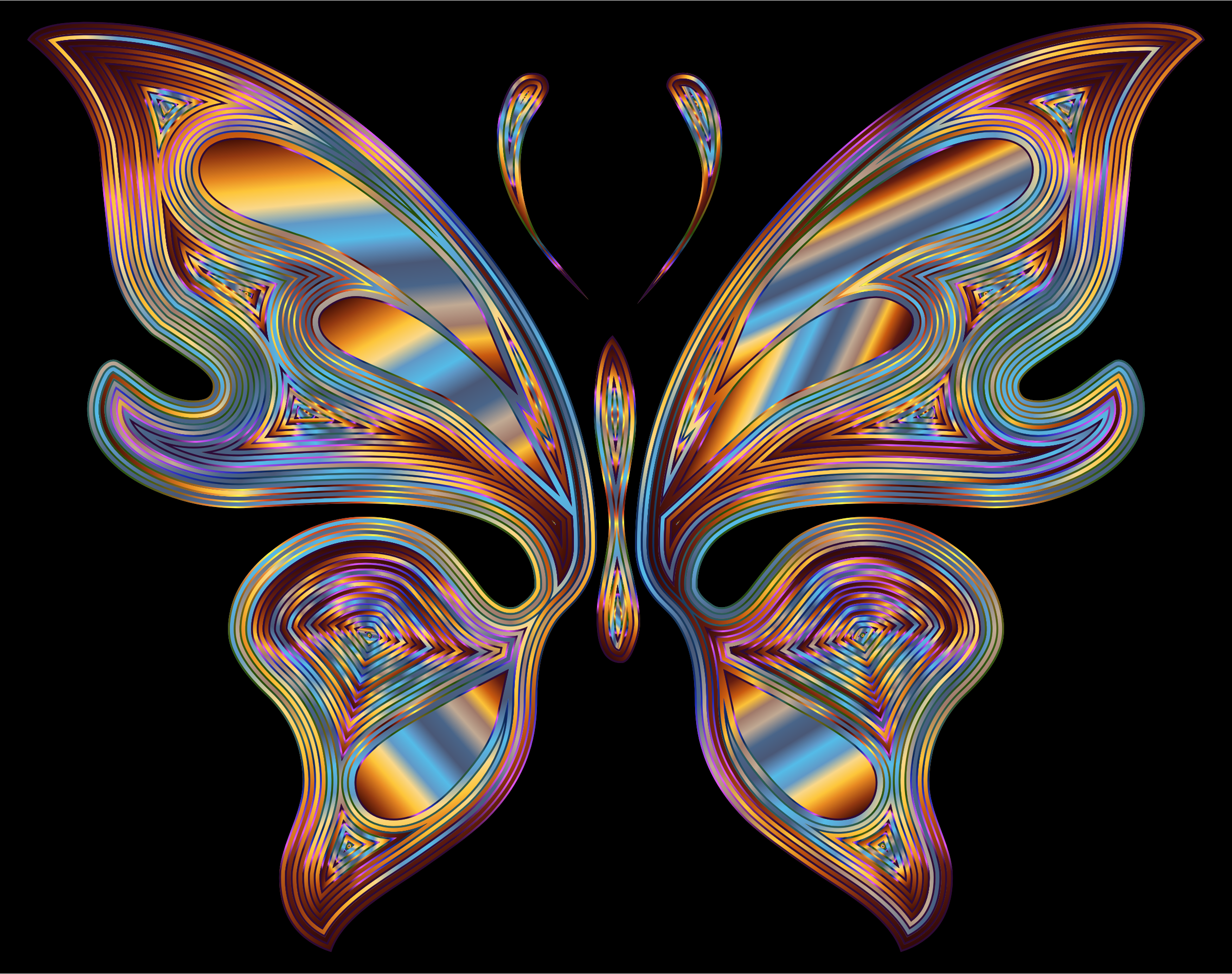 Prismatic Butterfly 13 Variation 6 by GDJ
