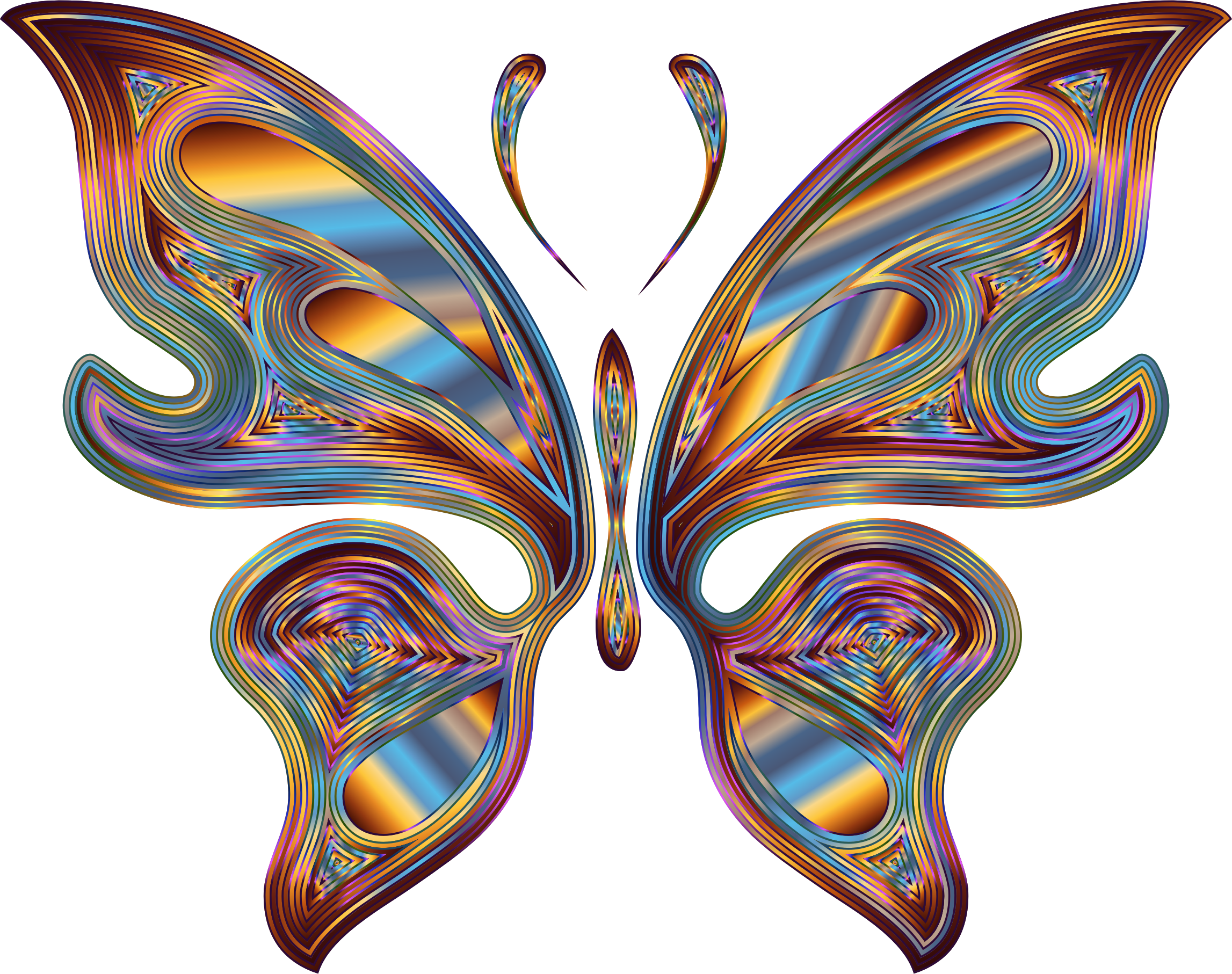 Prismatic Butterfly 13 Variation 6 No Background by GDJ