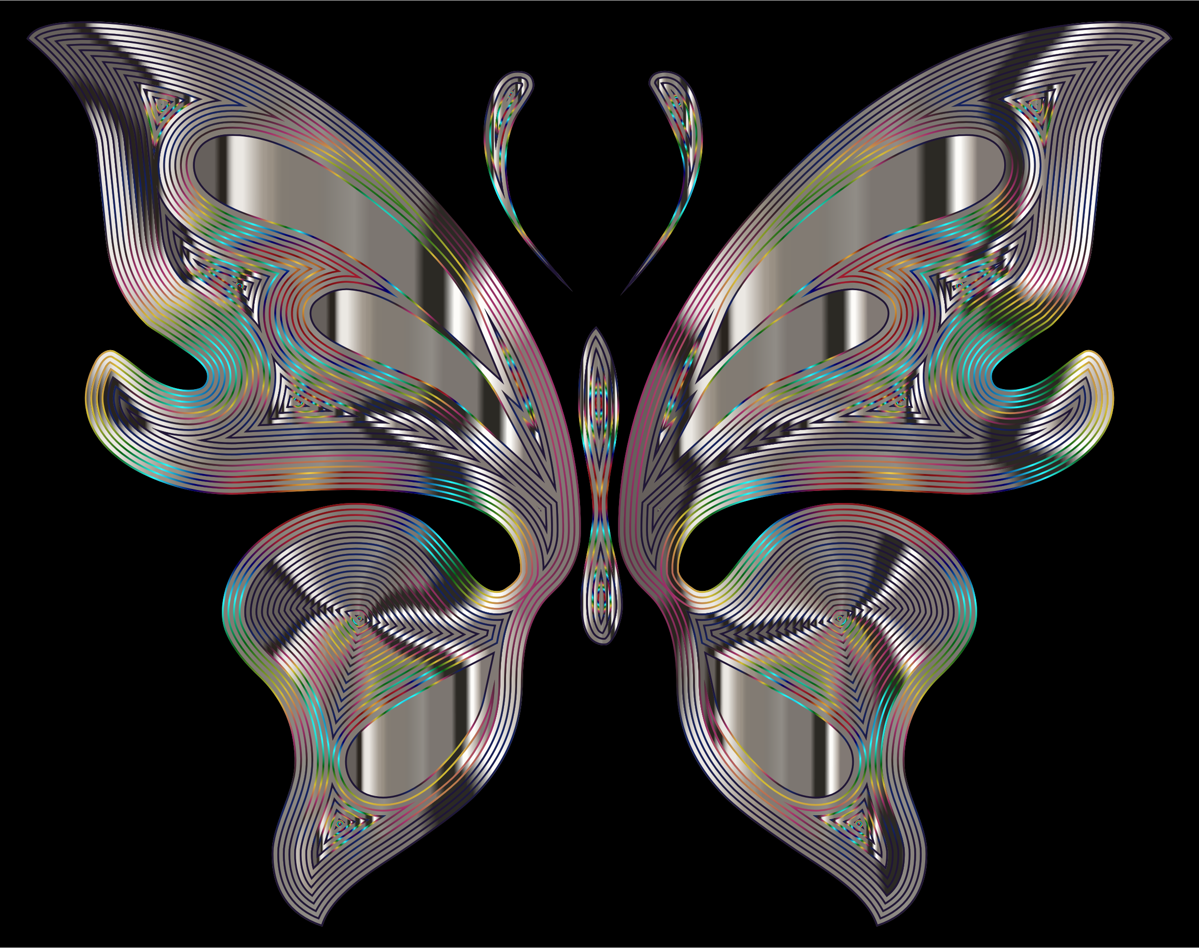 Prismatic Butterfly 15 Variation 2 by GDJ