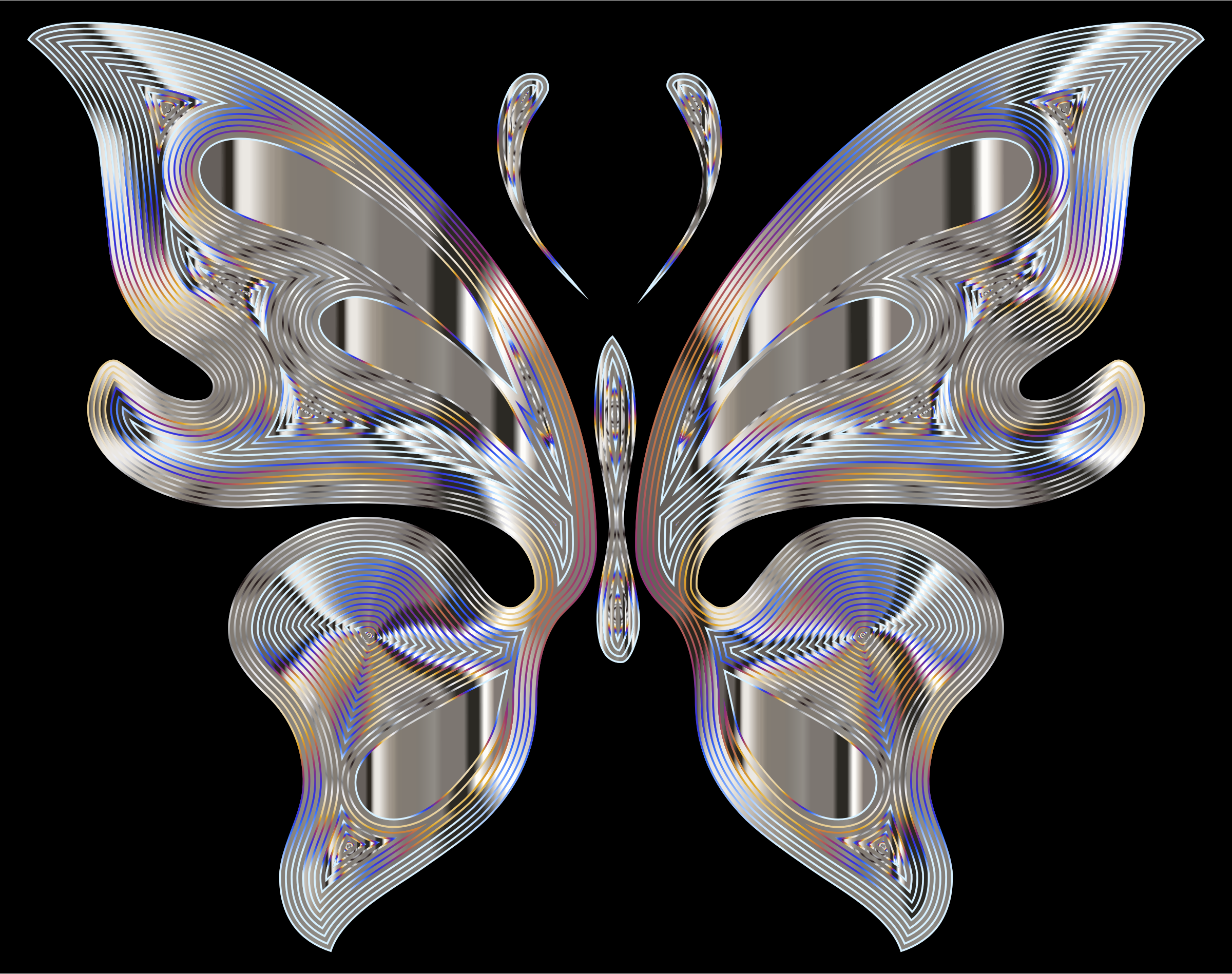 Prismatic Butterfly 15 Variation 4 by GDJ