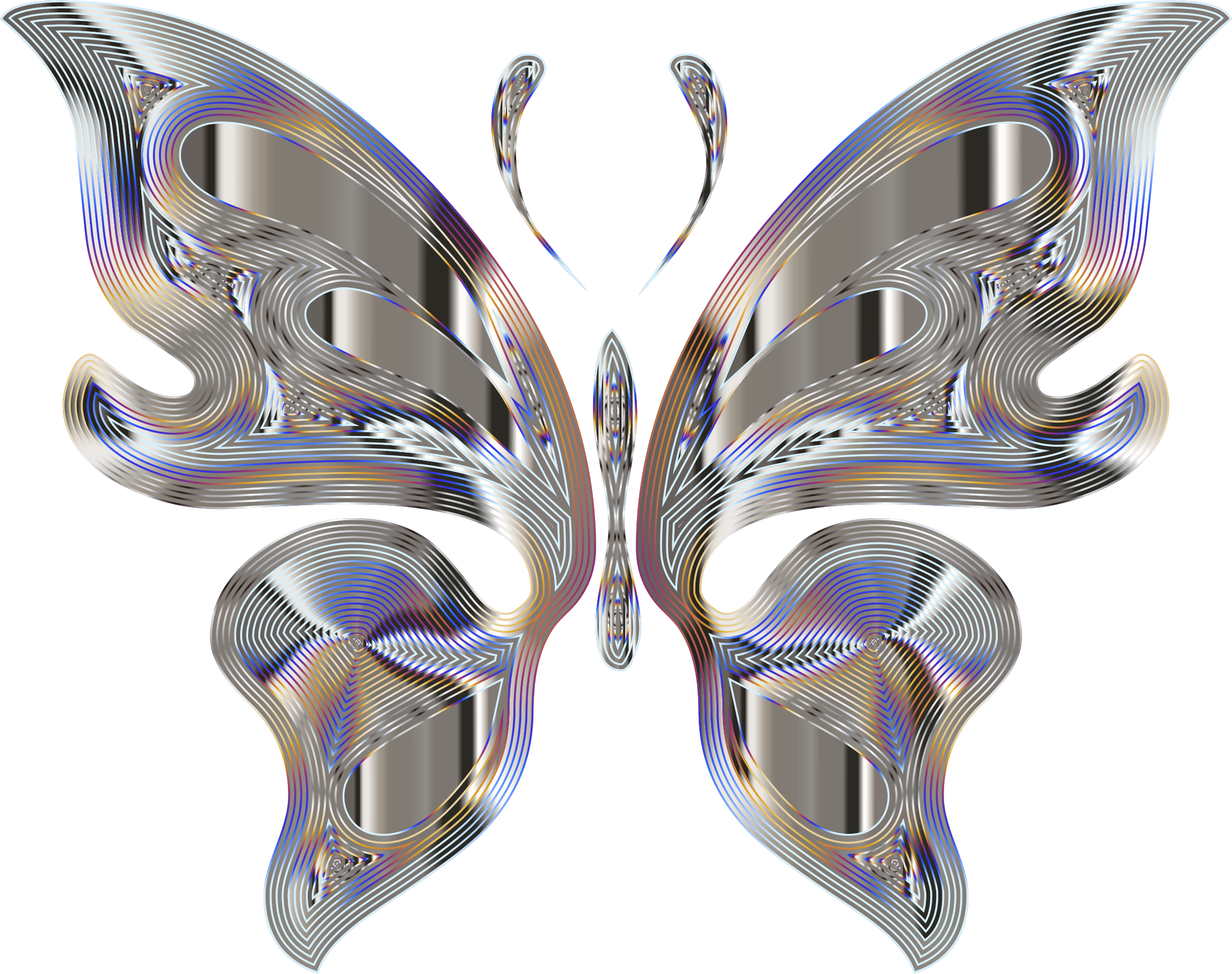 Prismatic Butterfly 15 Variation 4 No Background by GDJ