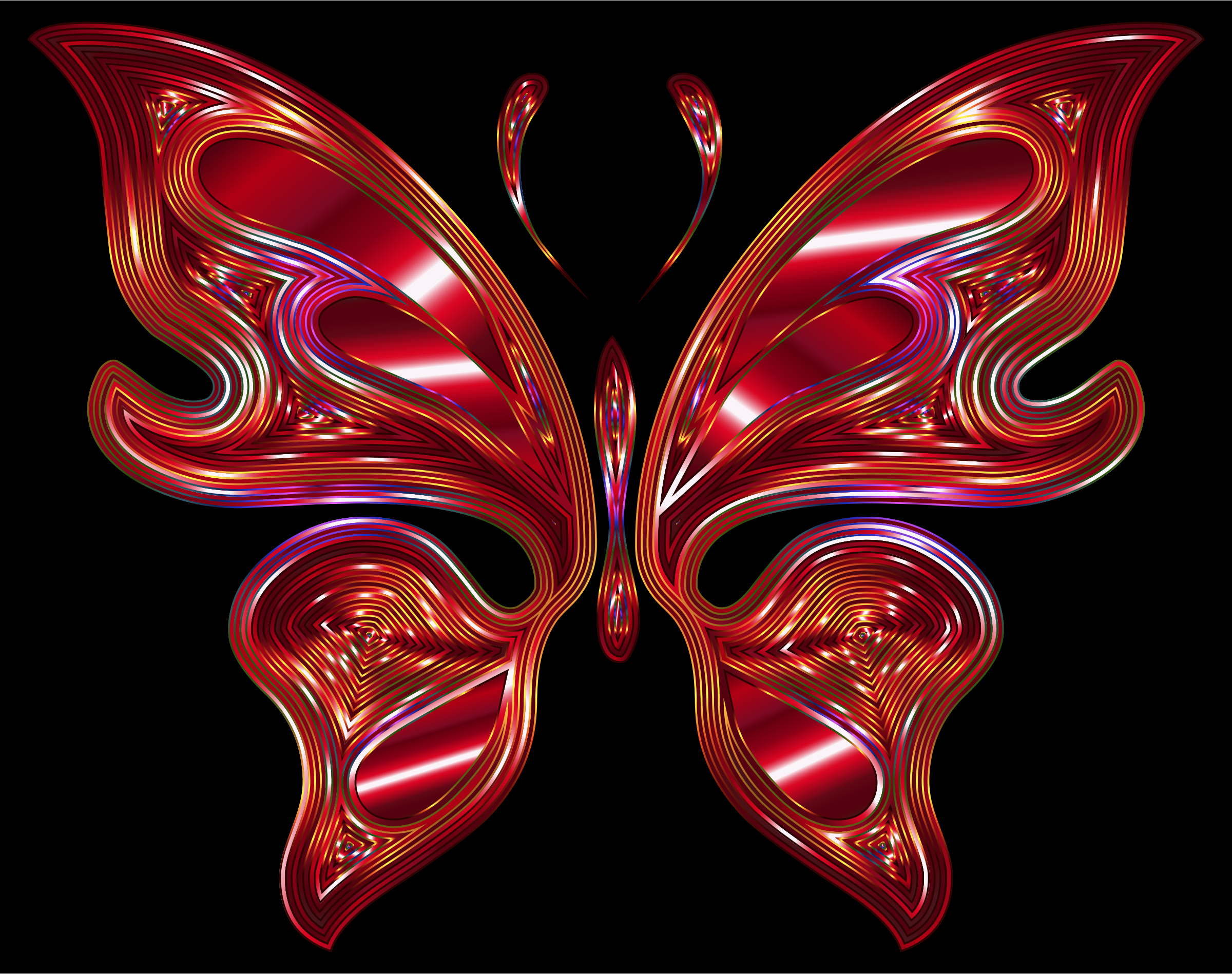 Prismatic Butterfly 16 Variation 2 by GDJ