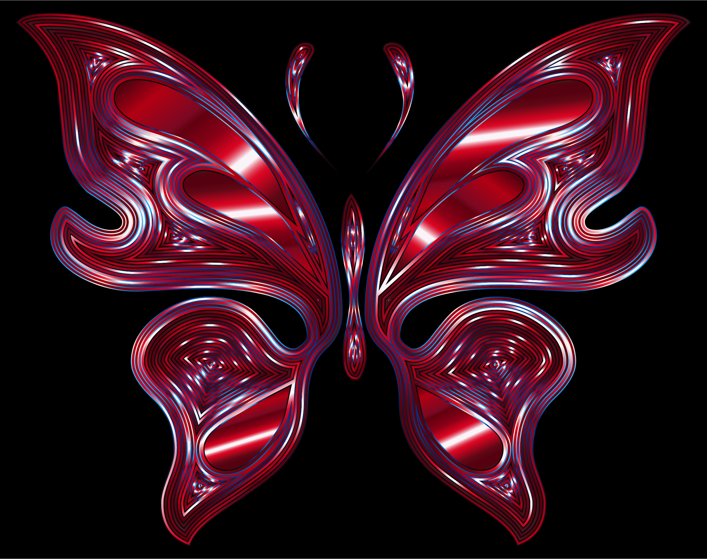 Prismatic Butterfly 16 Variation 3 by GDJ