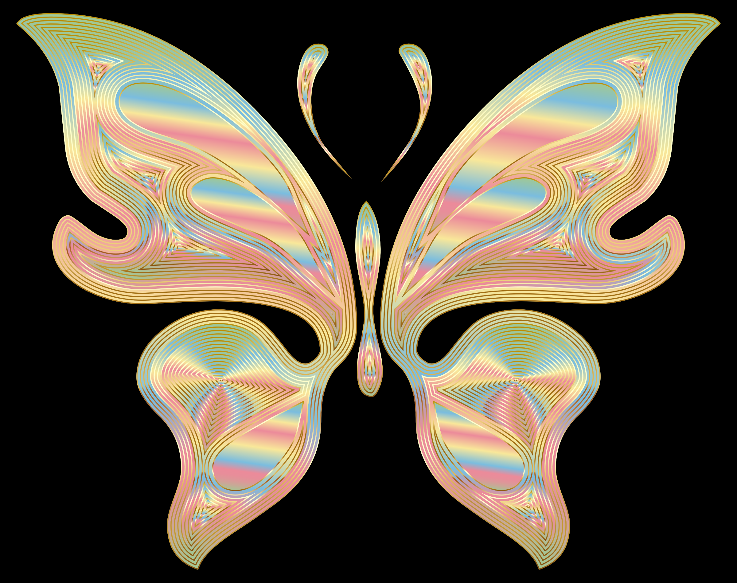 Prismatic Butterfly 17 Variation 2 by GDJ