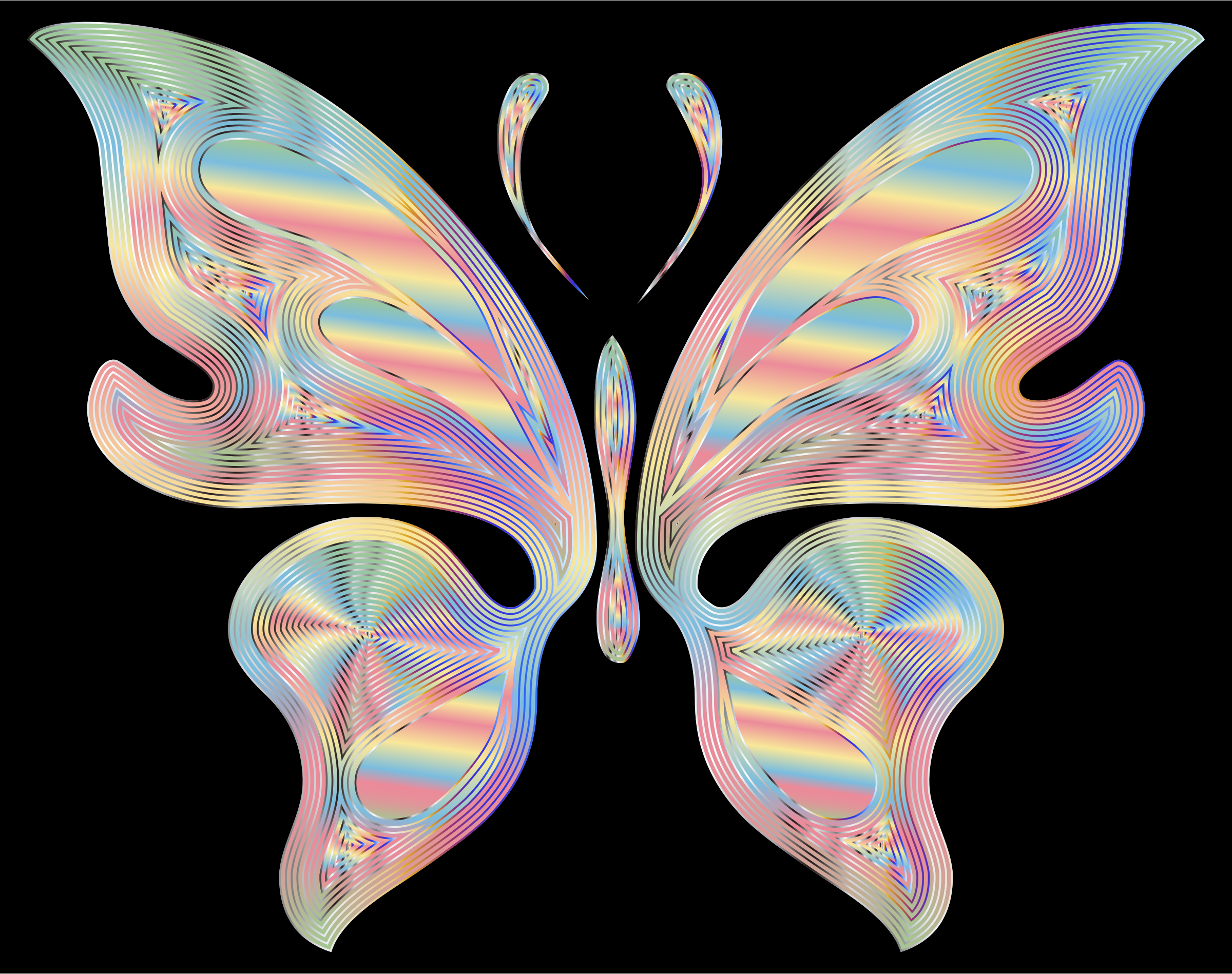 Prismatic Butterfly 17 Variation 3 by GDJ