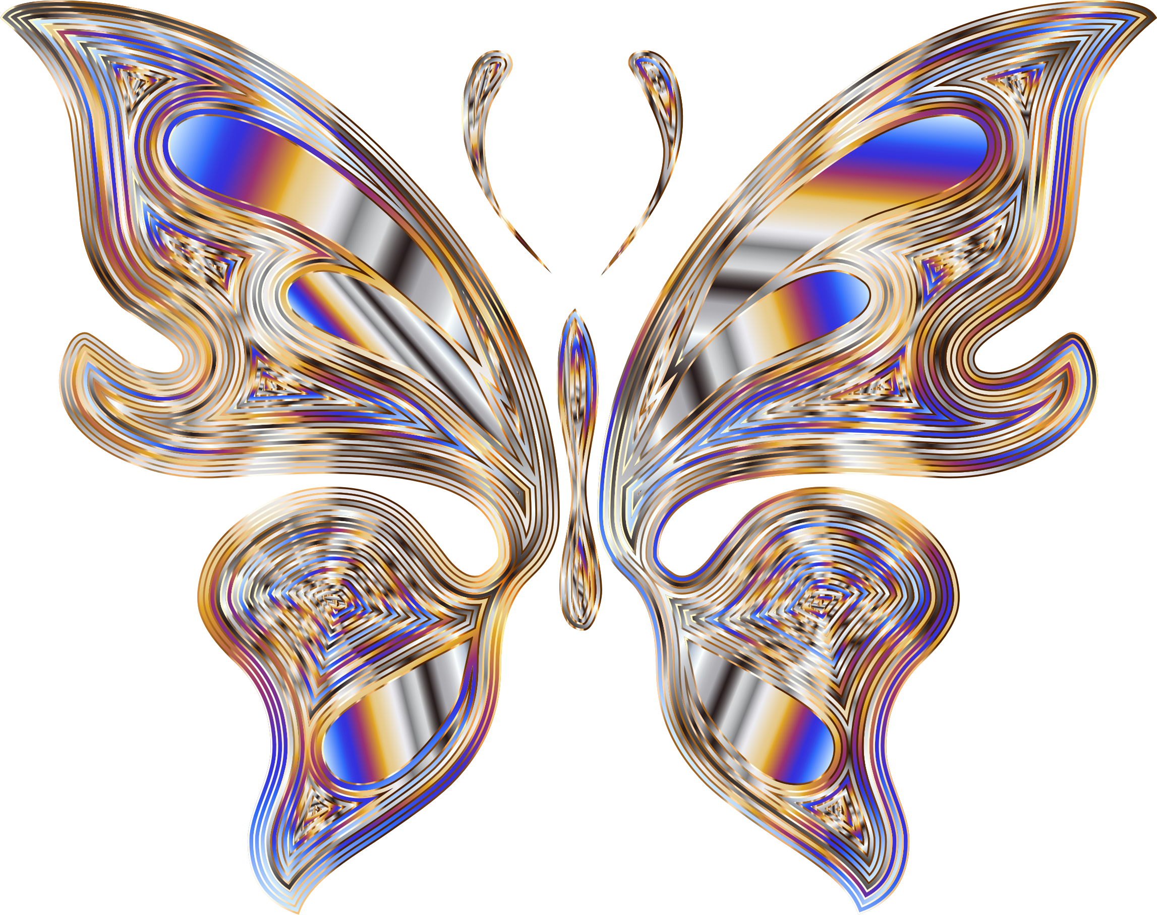 Prismatic Butterfly 18 No Background by GDJ