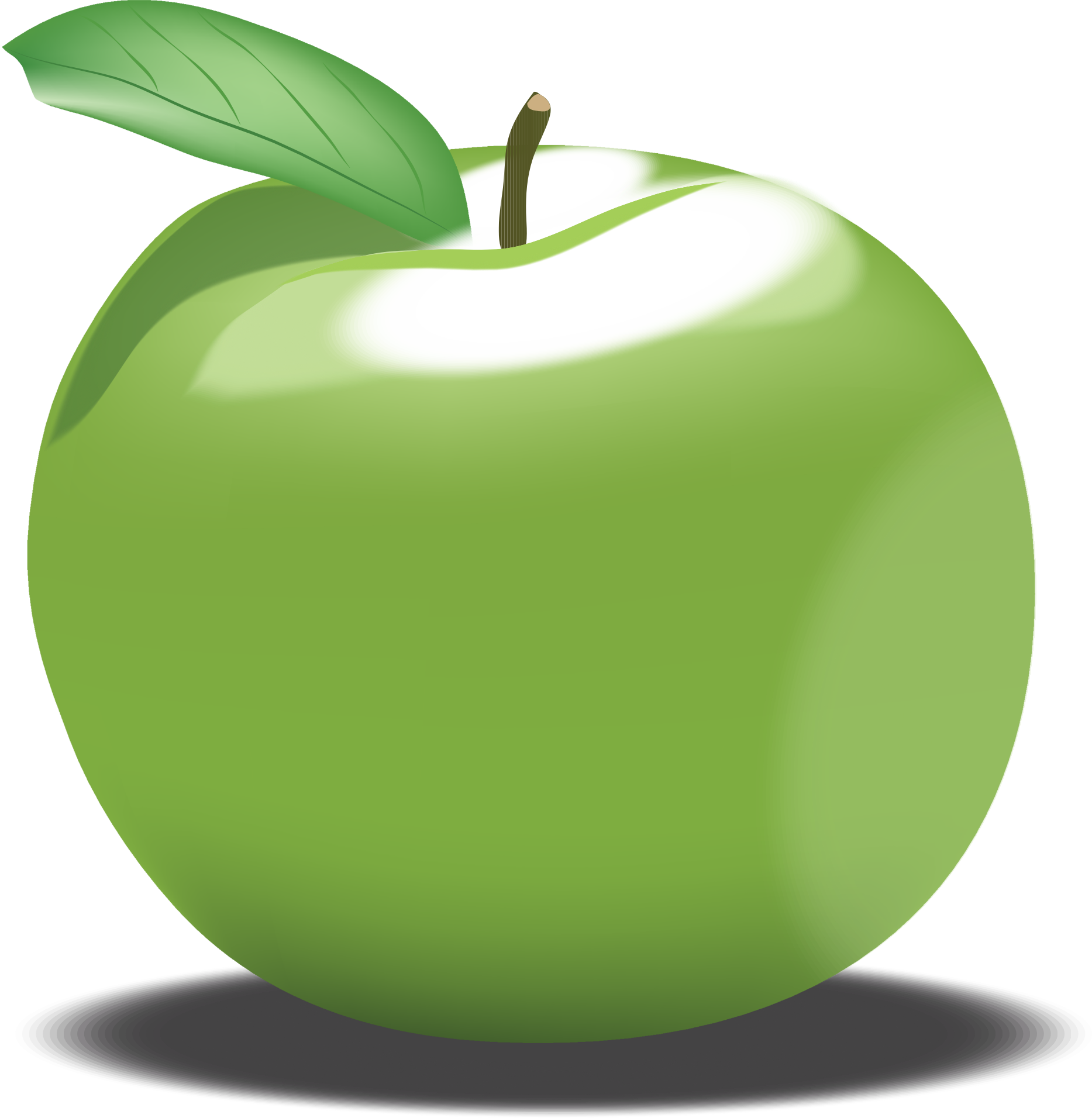 clipart green apple rh openclipart org green apple pictures clip art Yellow Apple Clip Art