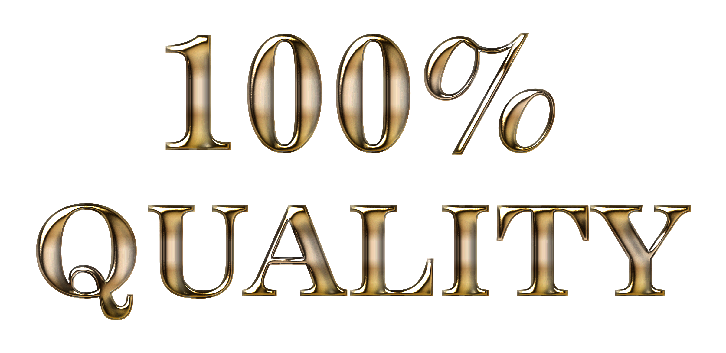 100 Percent Quality Typography Enhanced 2 No Background by GDJ