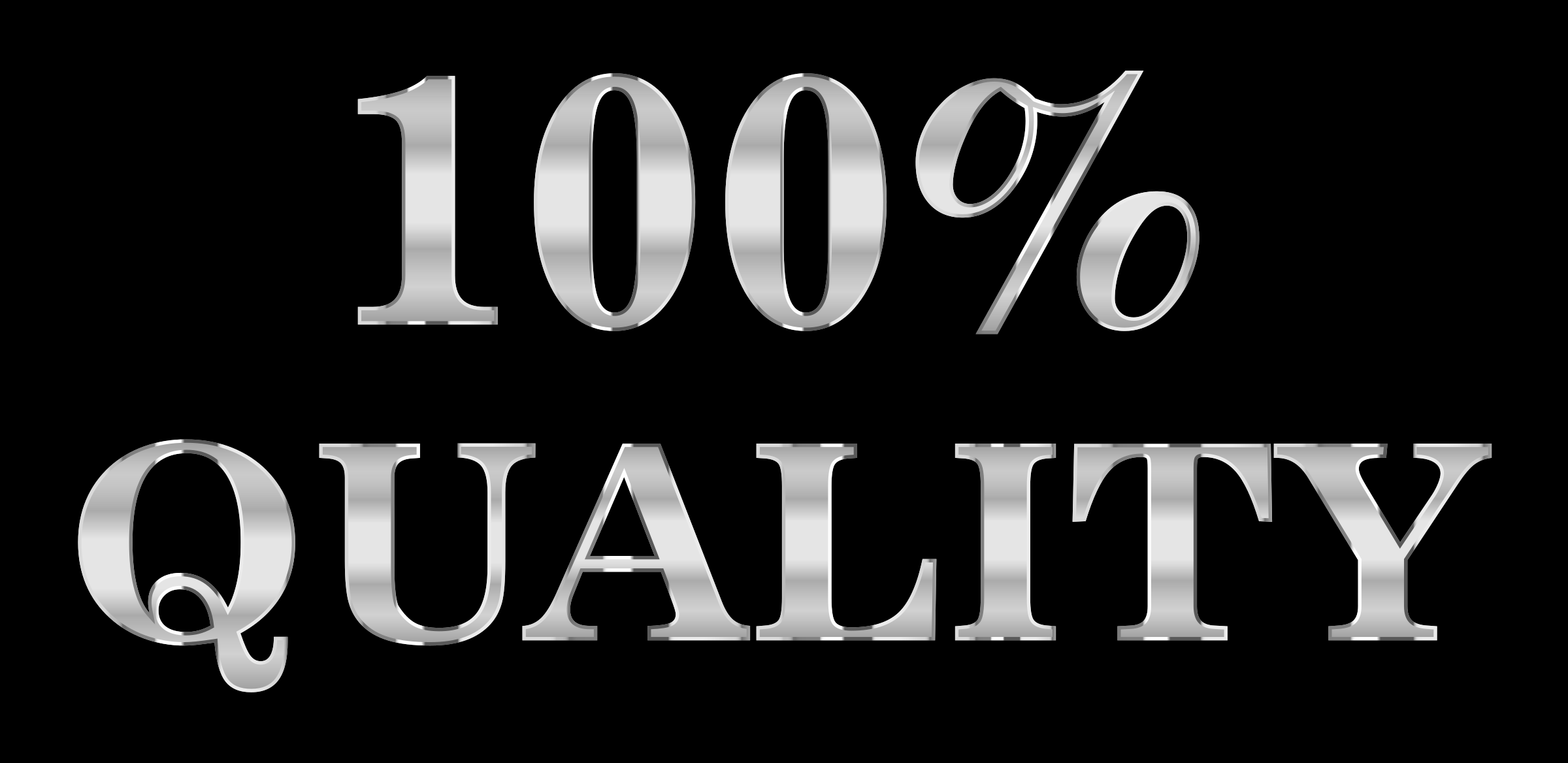 100 Percent Quality Typography Steel by GDJ