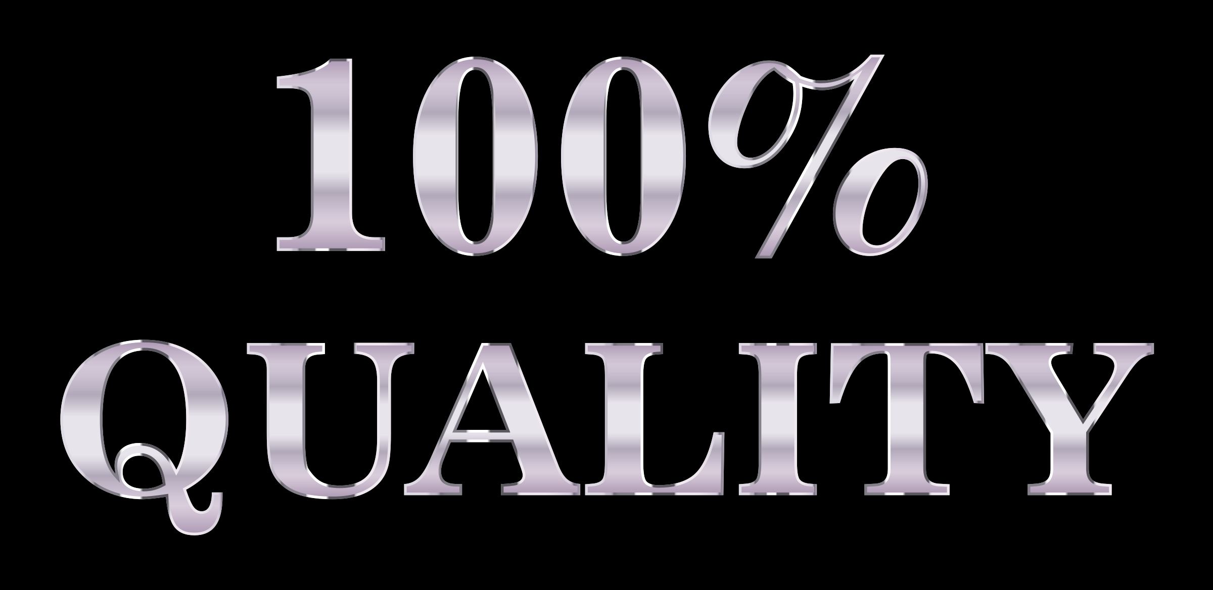100 Percent Quality Typography Silver by GDJ