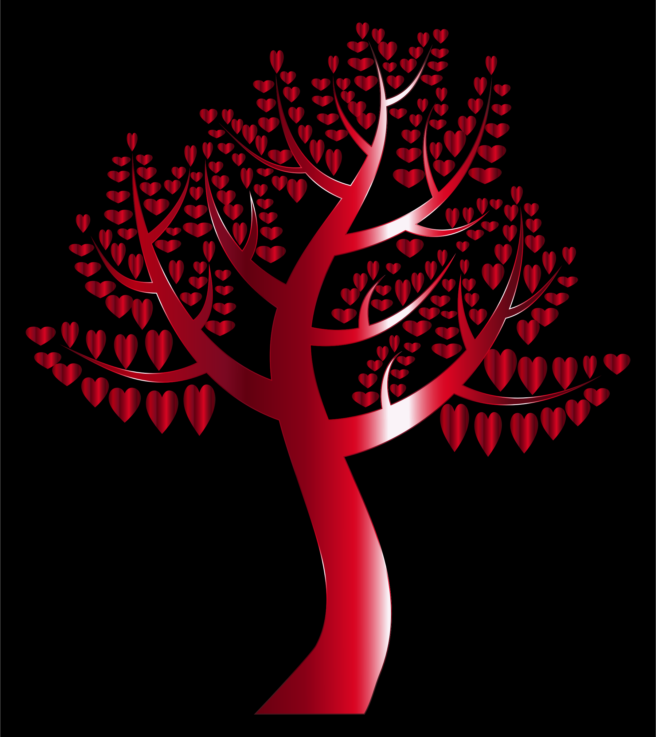 Simple Hearts Tree 11 by GDJ