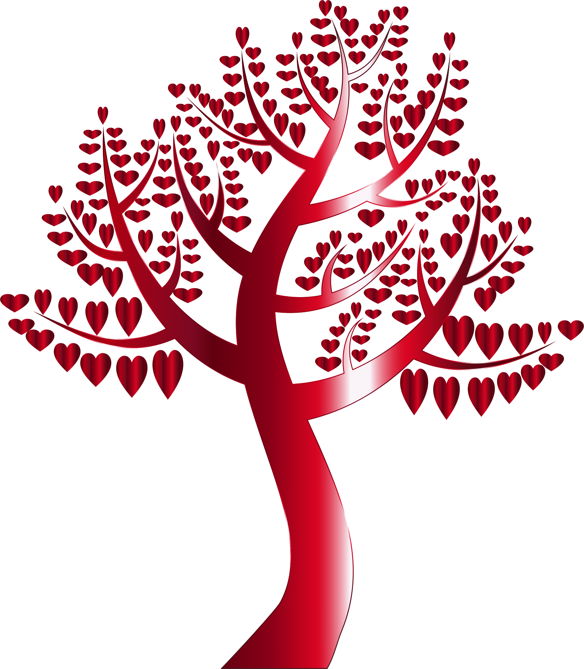 Simple Hearts Tree 11 No Background by GDJ