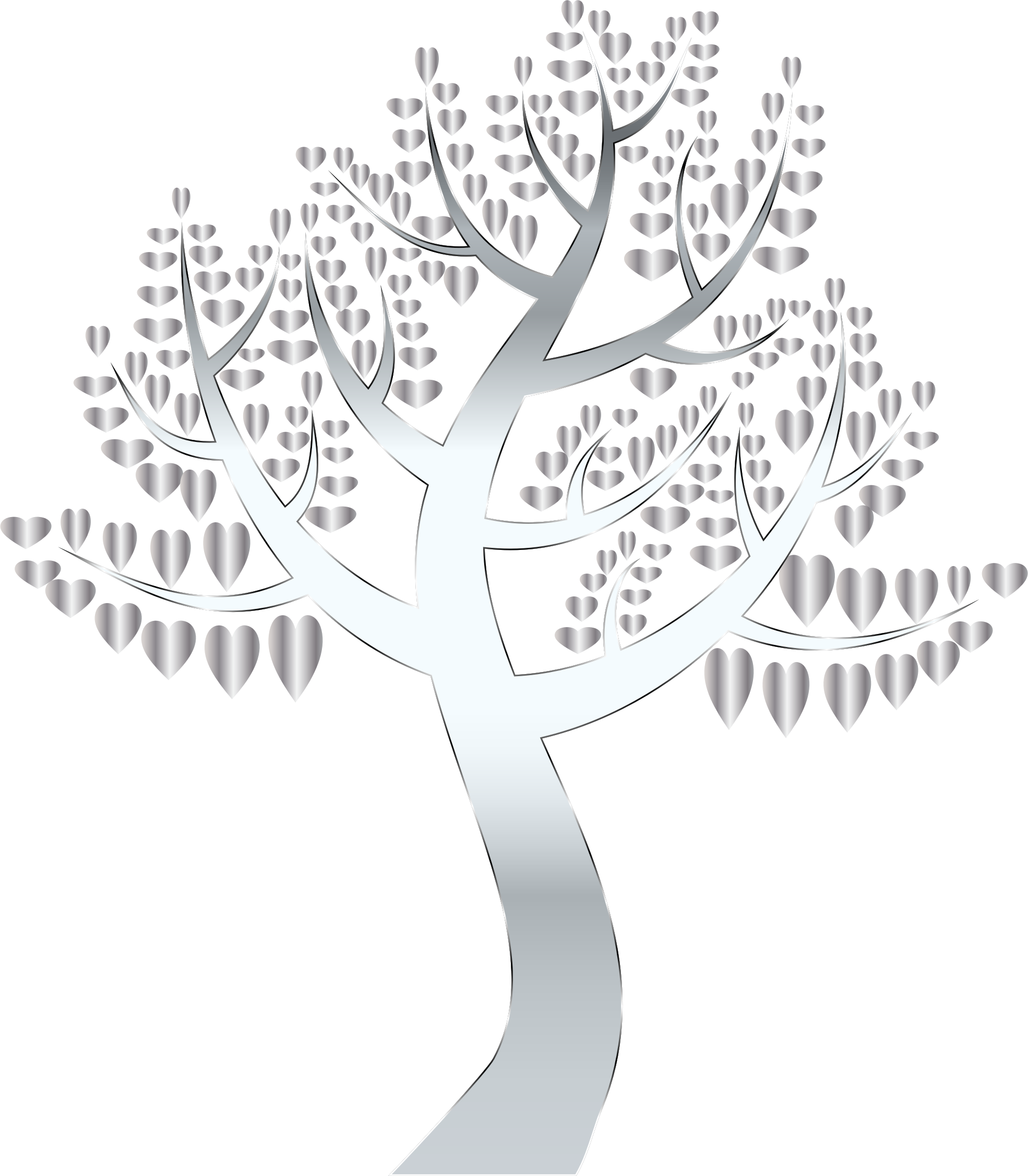 Simple Hearts Tree 13 No Background by GDJ