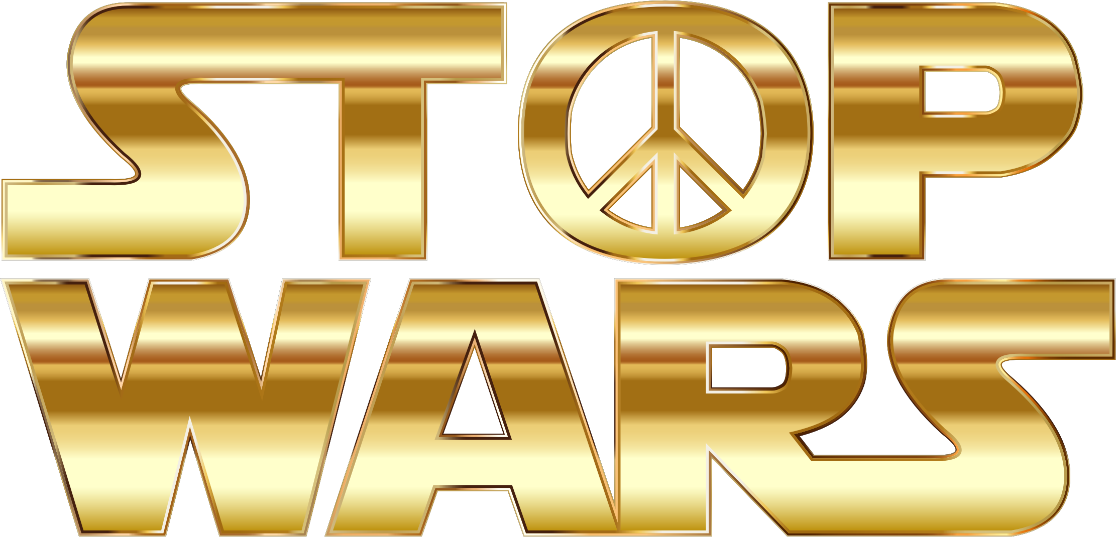 Stop Wars Gold No Background by GDJ