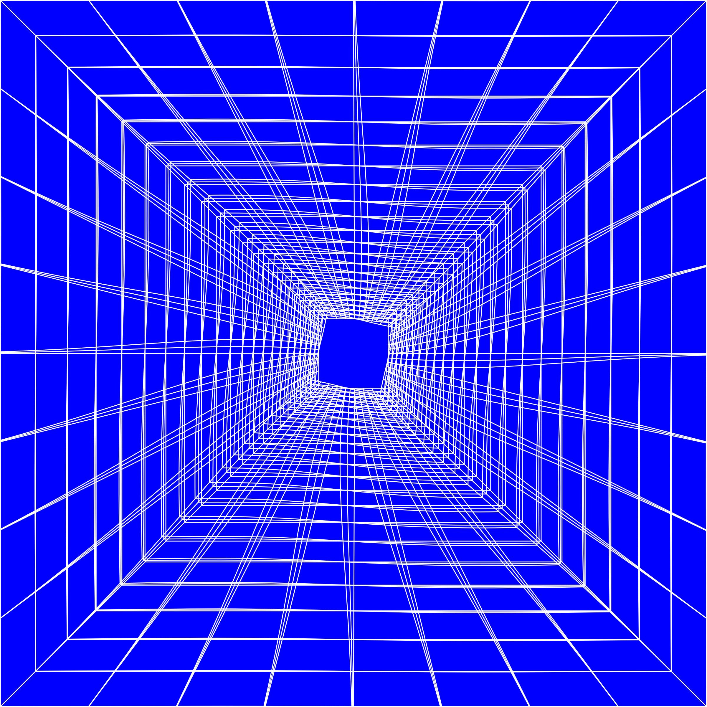 Blue Perspective Grid Distorted 9 by GDJ