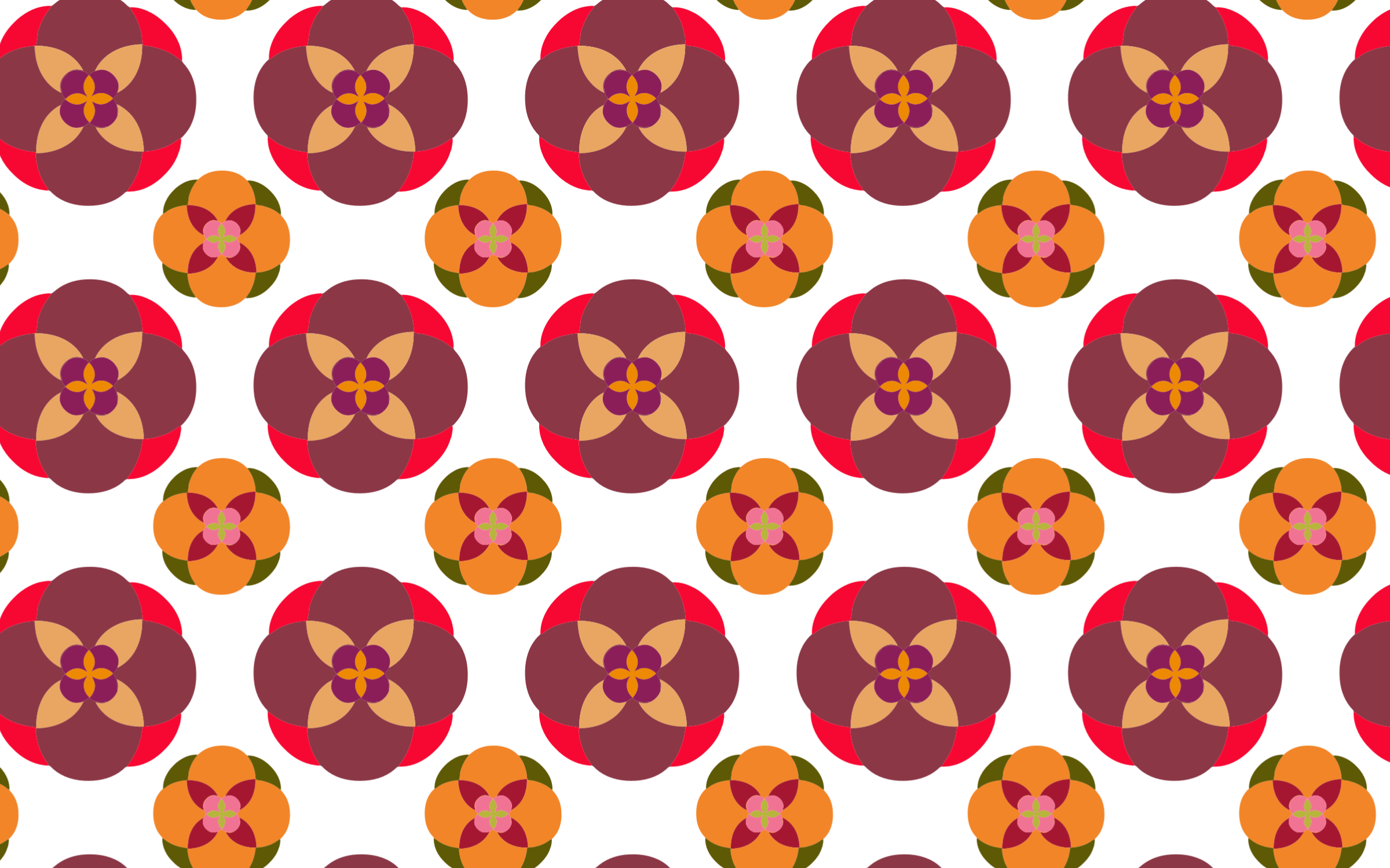 Seamless Abstract Floral Pattern No Background by GDJ