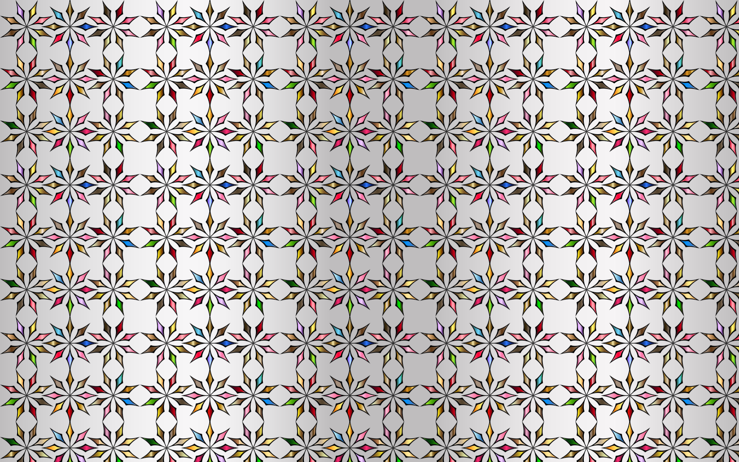 Seamless Chromatic Ornamental Divider Pattern With Background by GDJ