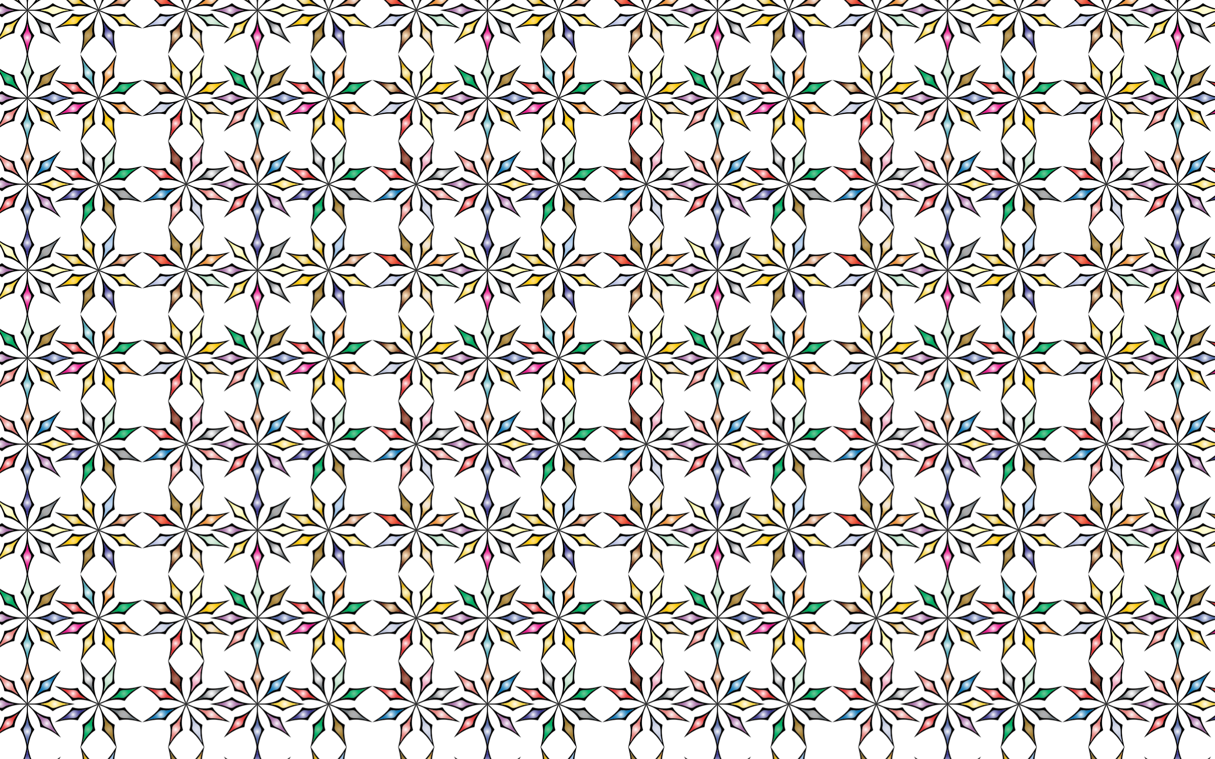 Seamless Chromatic Ornamental Divider Pattern 2 by GDJ