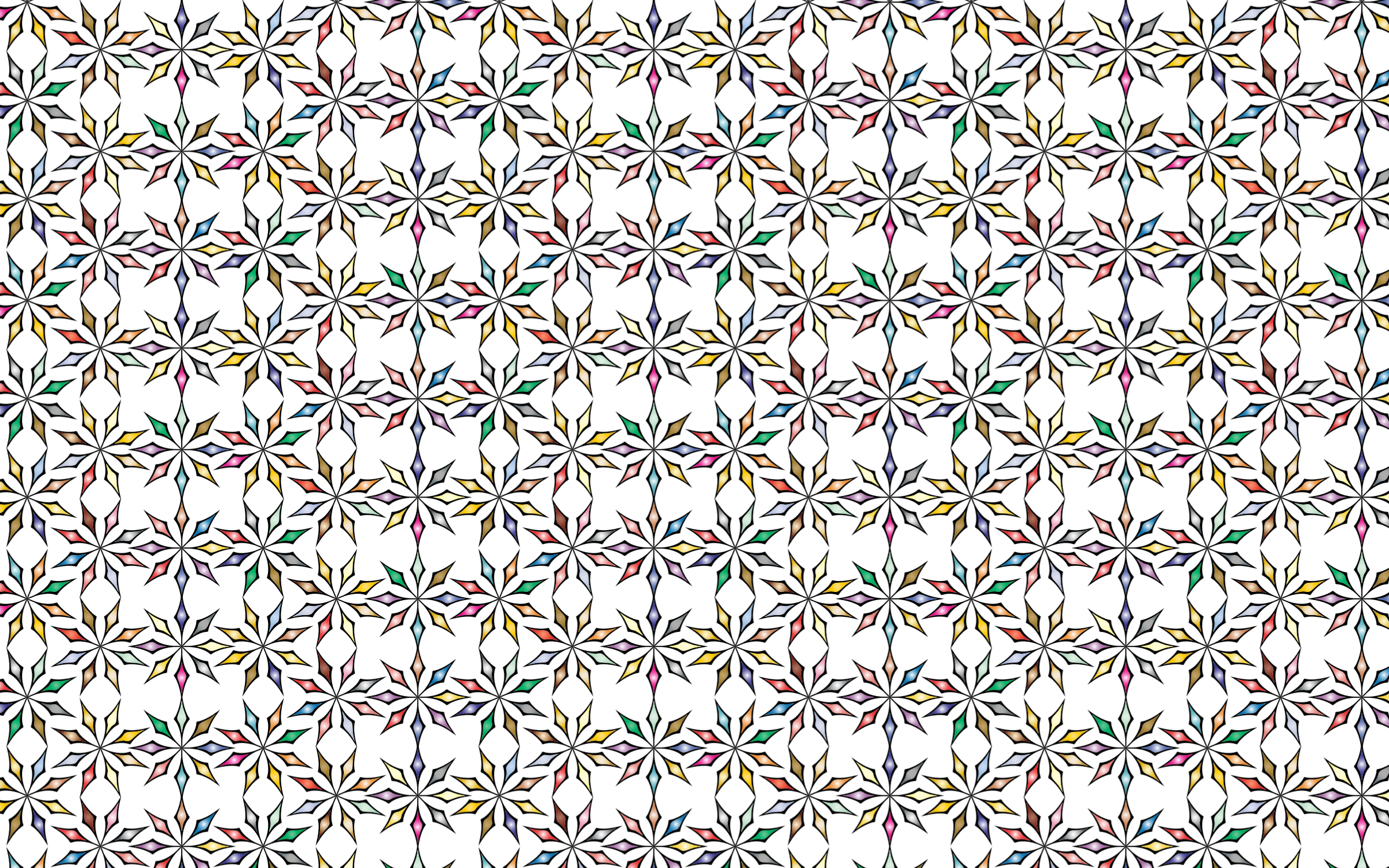 Seamless Chromatic Ornamental Divider Pattern 3 by GDJ