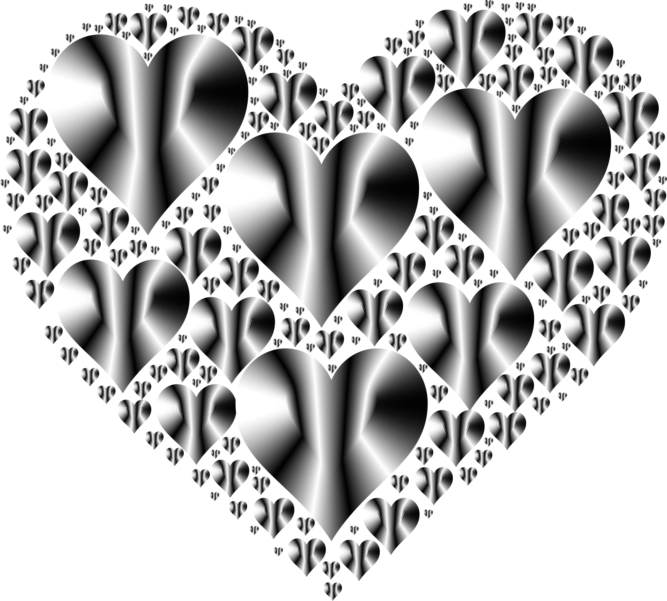 Hearts In Heart Rejuvenated 14 No Background by GDJ