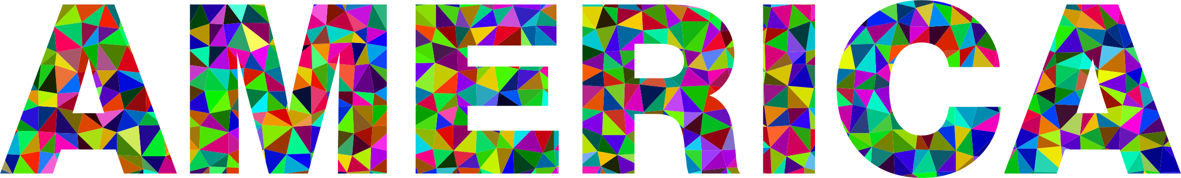 Prismatic Low Poly America Typography by GDJ