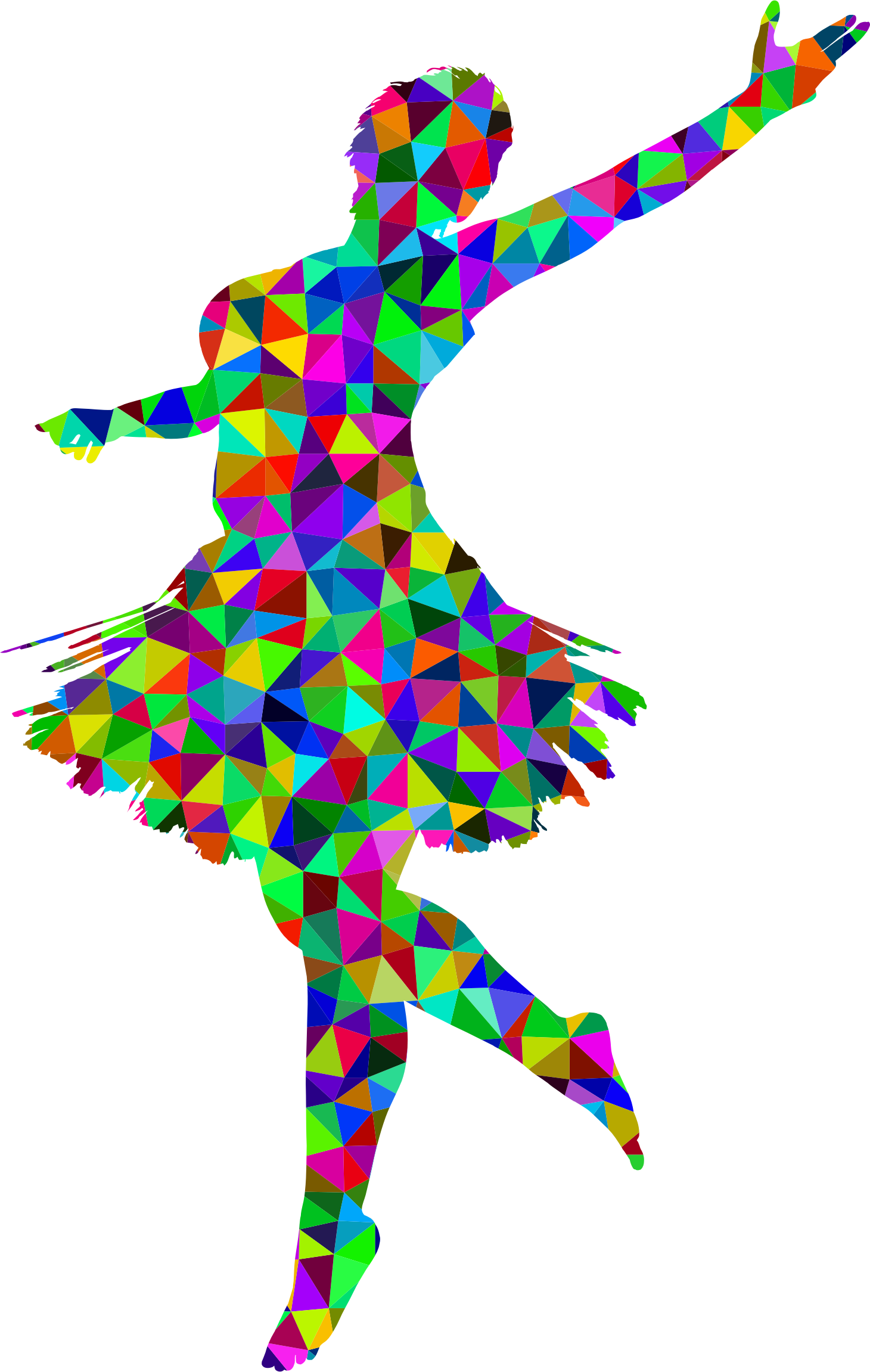 Prismatic Low Poly Ballerina by GDJ