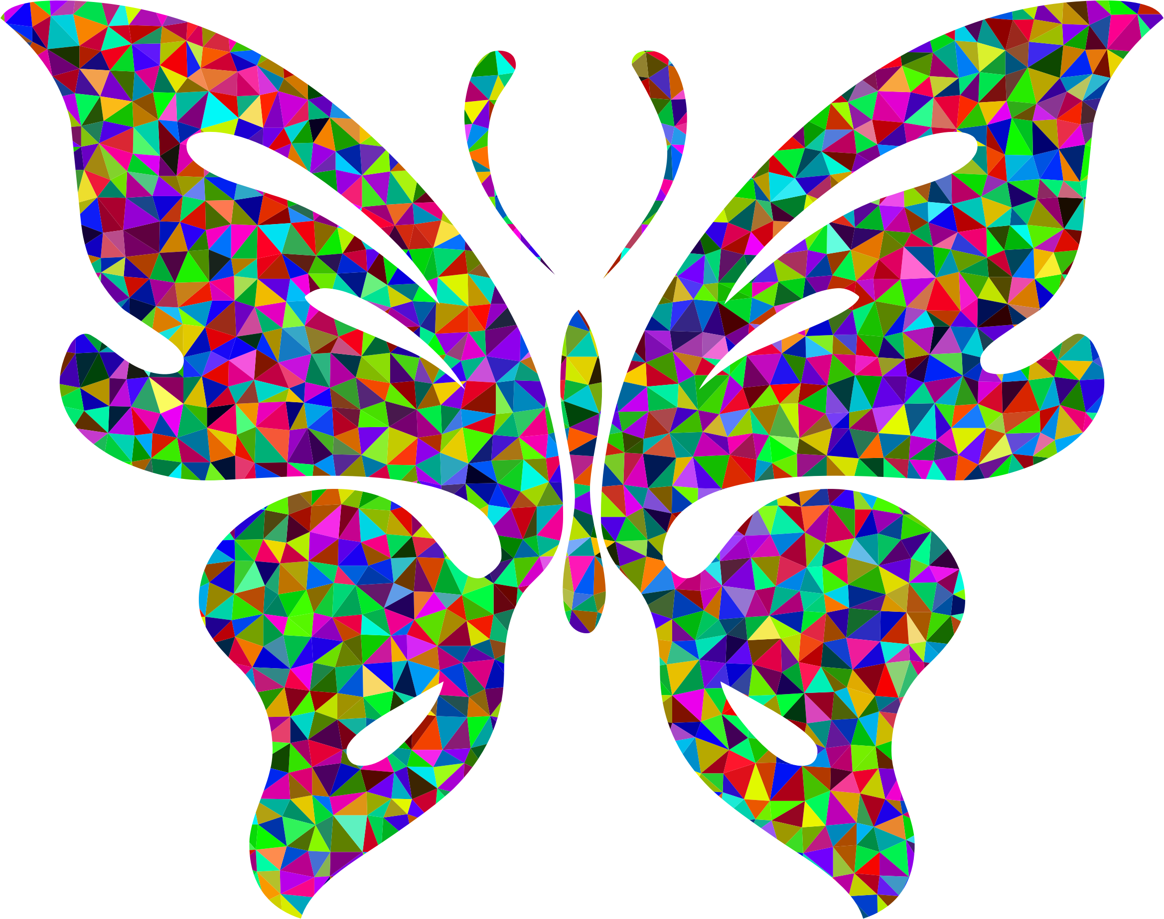 Prismatic Low Poly Butterfly by GDJ