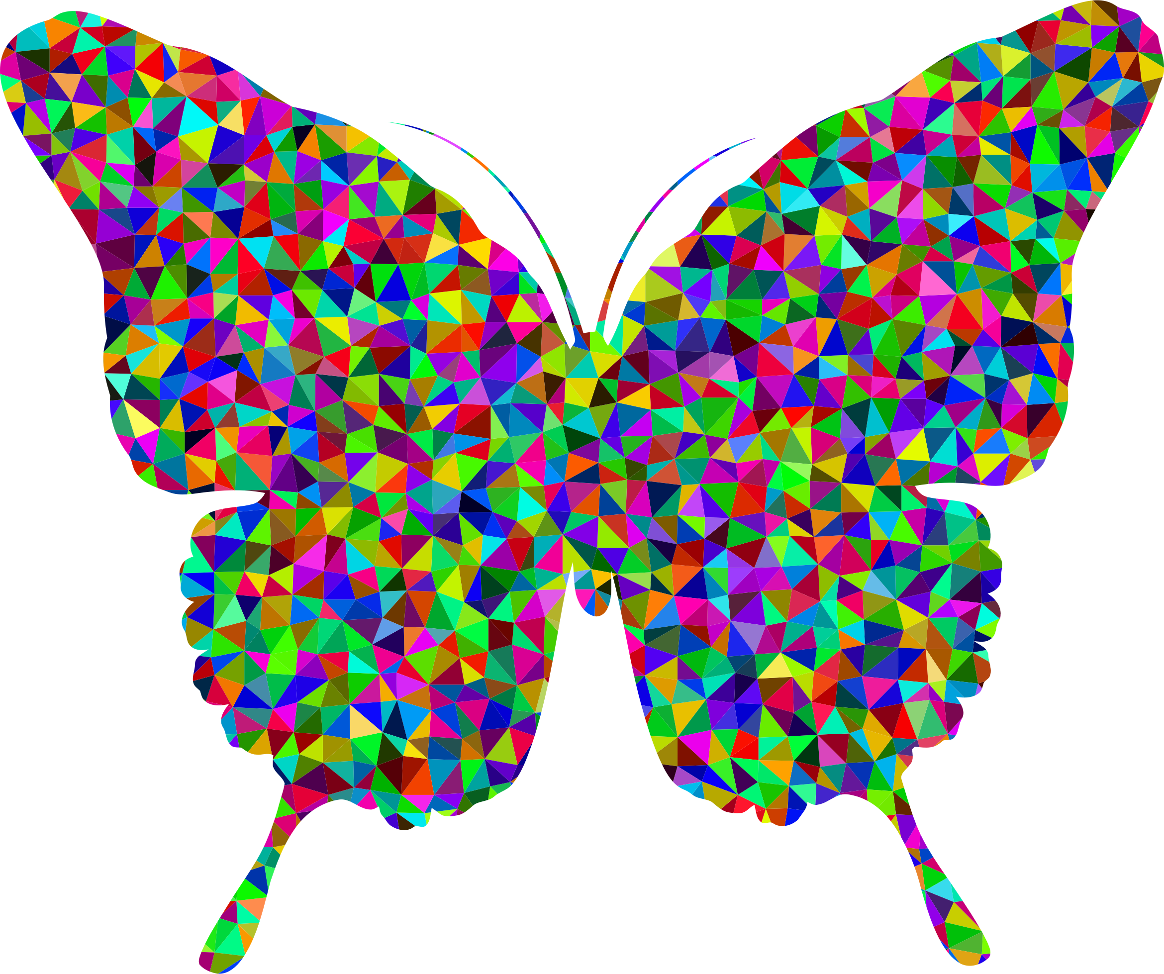 Prismatic Low Poly Butterfly 2 by GDJ