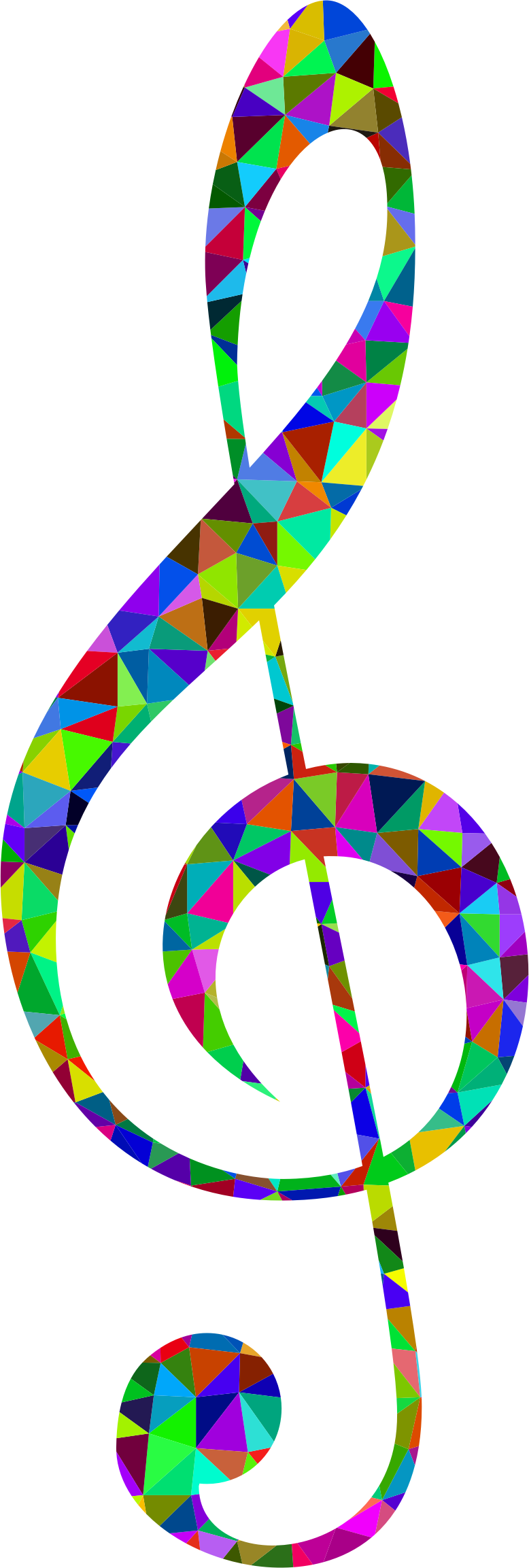 Prismatic Low Poly Clef by GDJ