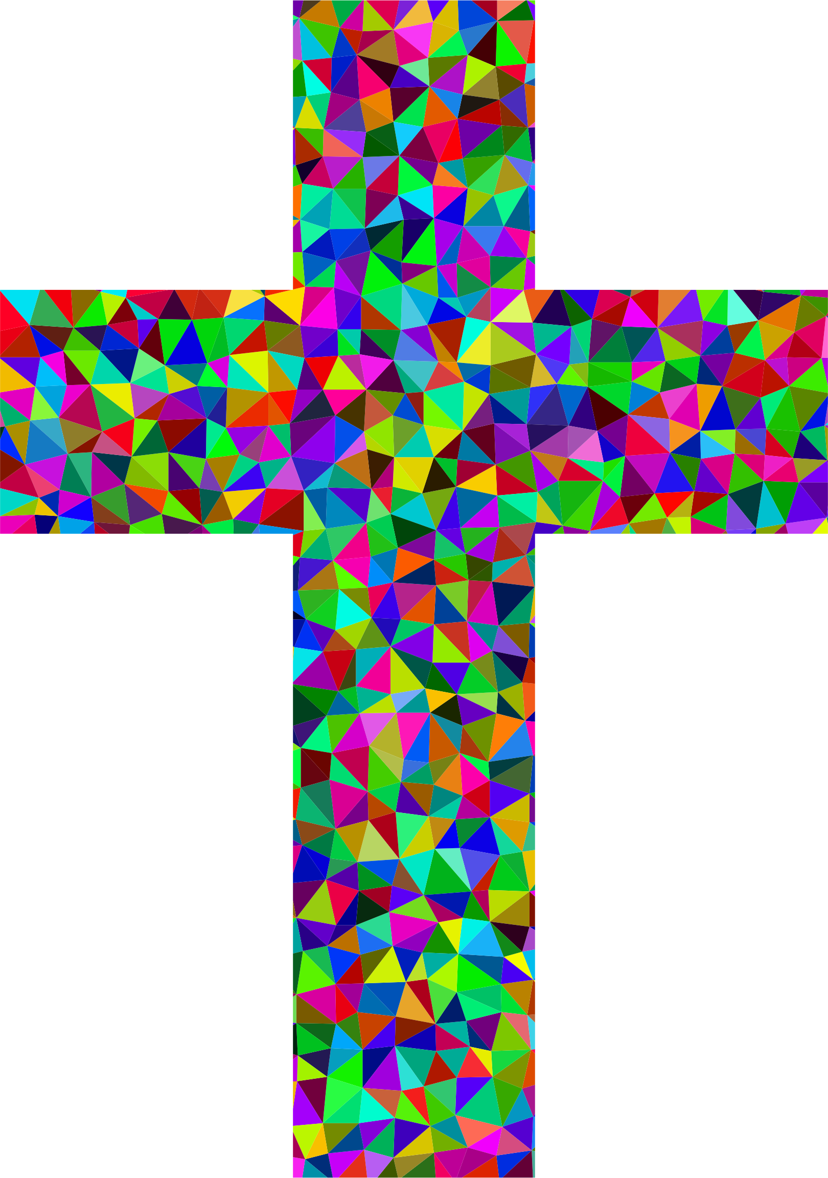 Prismatic Low Poly Cross by GDJ