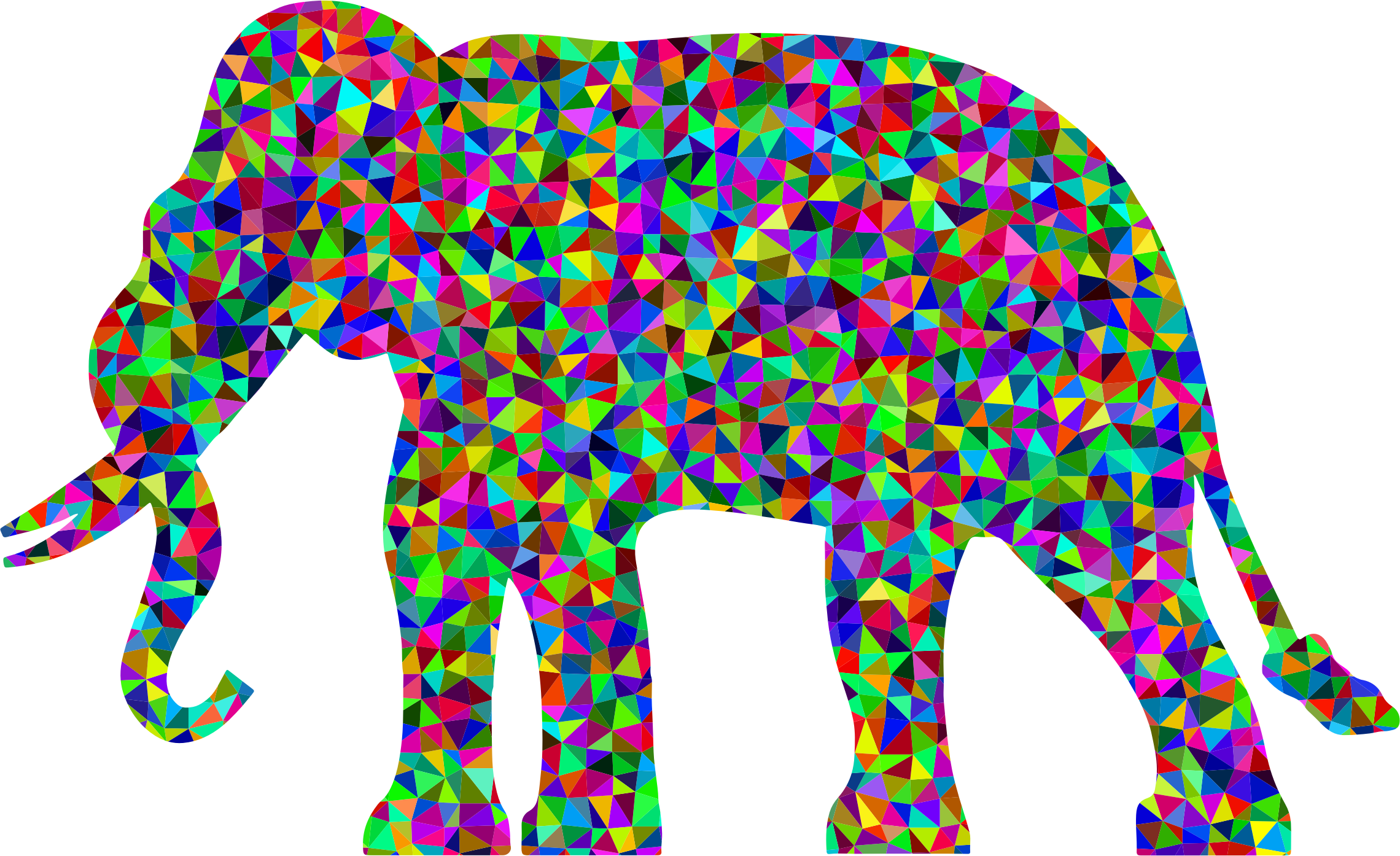 Prismatic Low Poly Elephant by GDJ