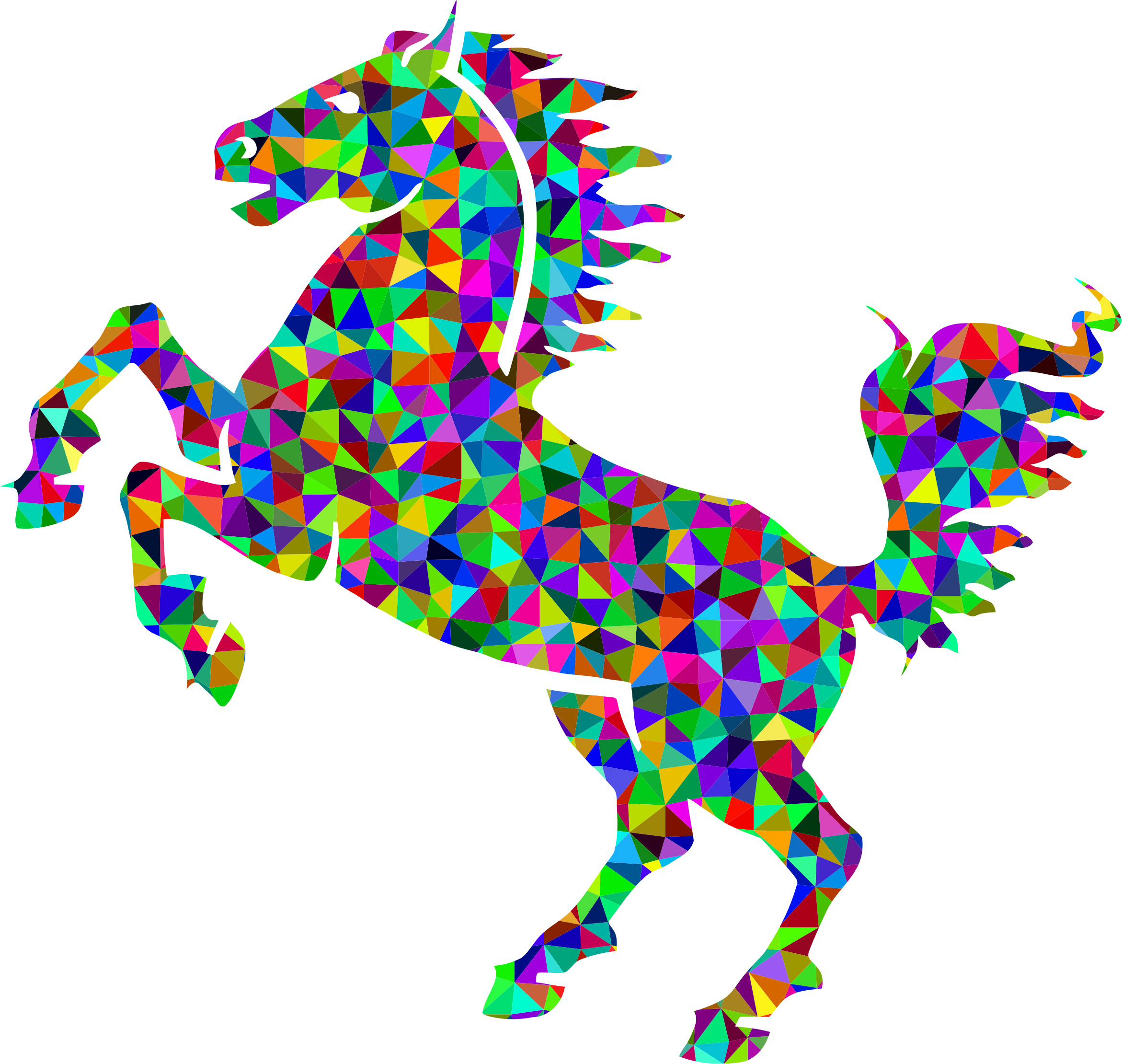 Prismatic Low Poly Horse by GDJ