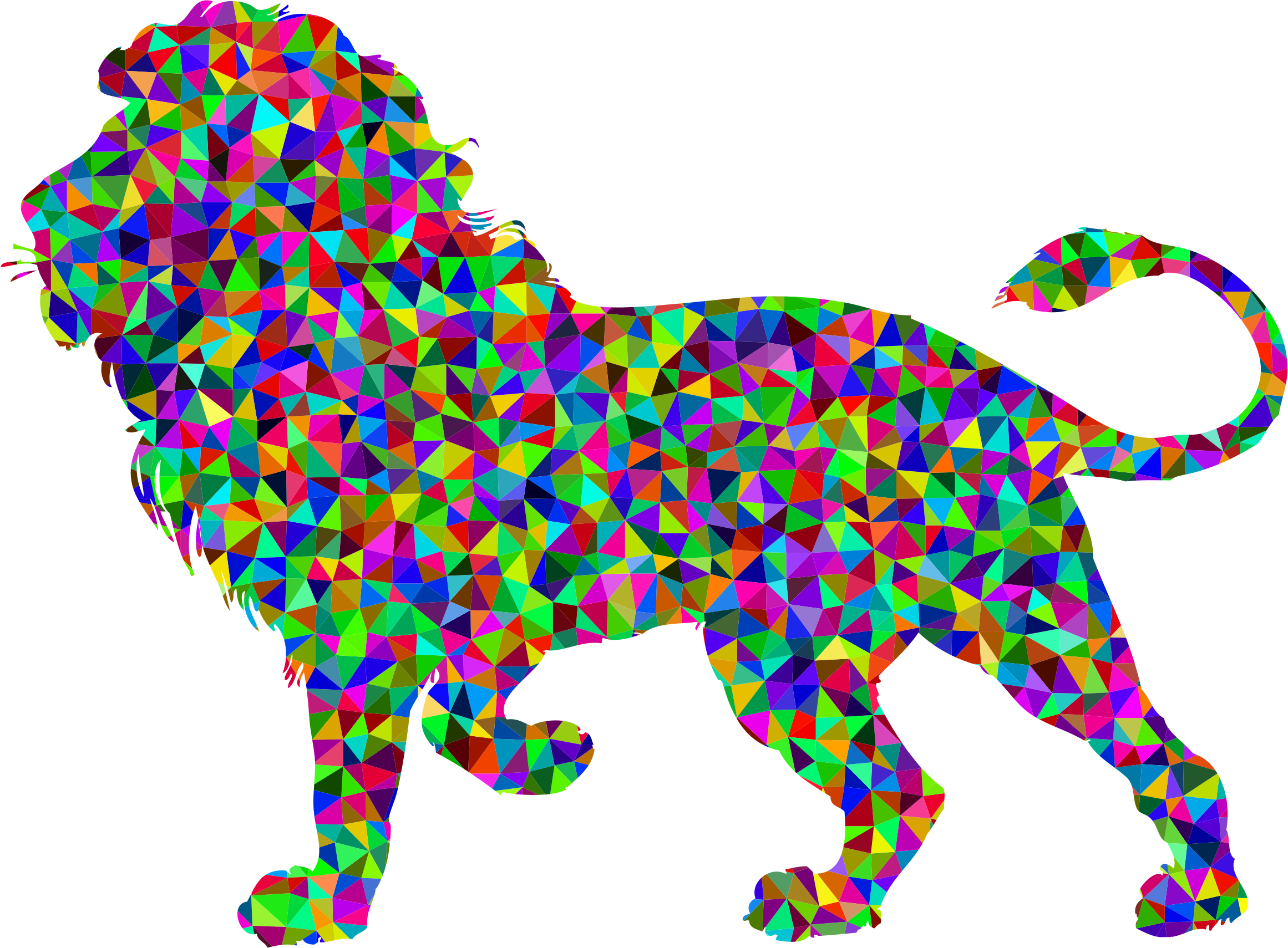 Prismatic Low Poly Lion by GDJ