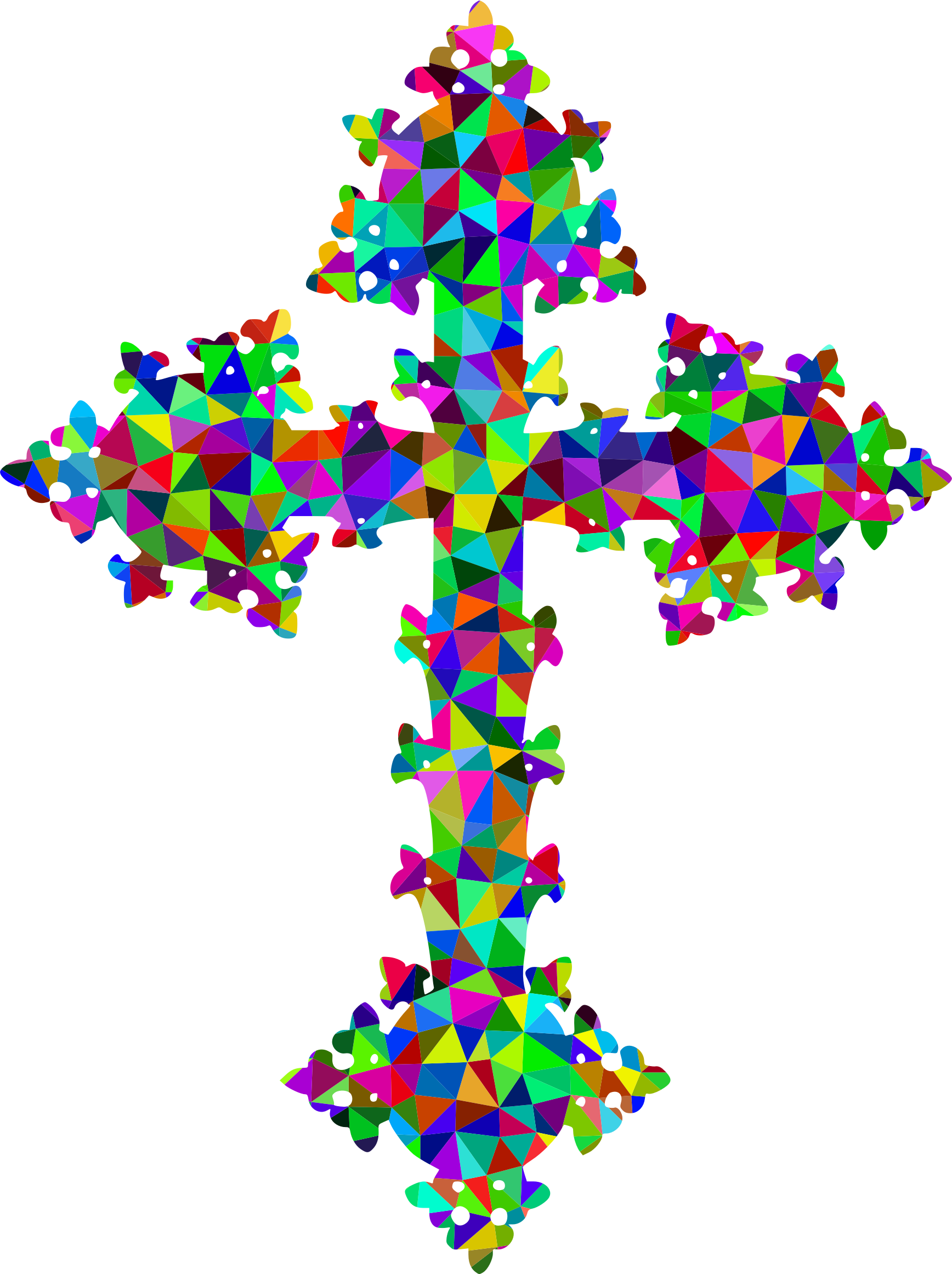 Prismatic Low Poly Ornate Cross by GDJ