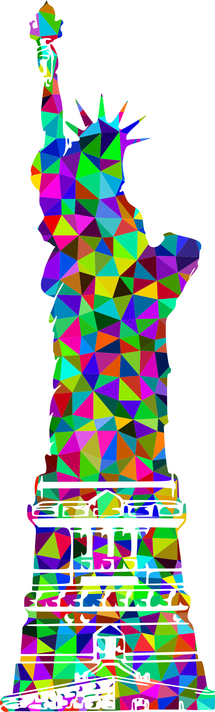 Prismatic Low Poly Statue Of Liberty by GDJ