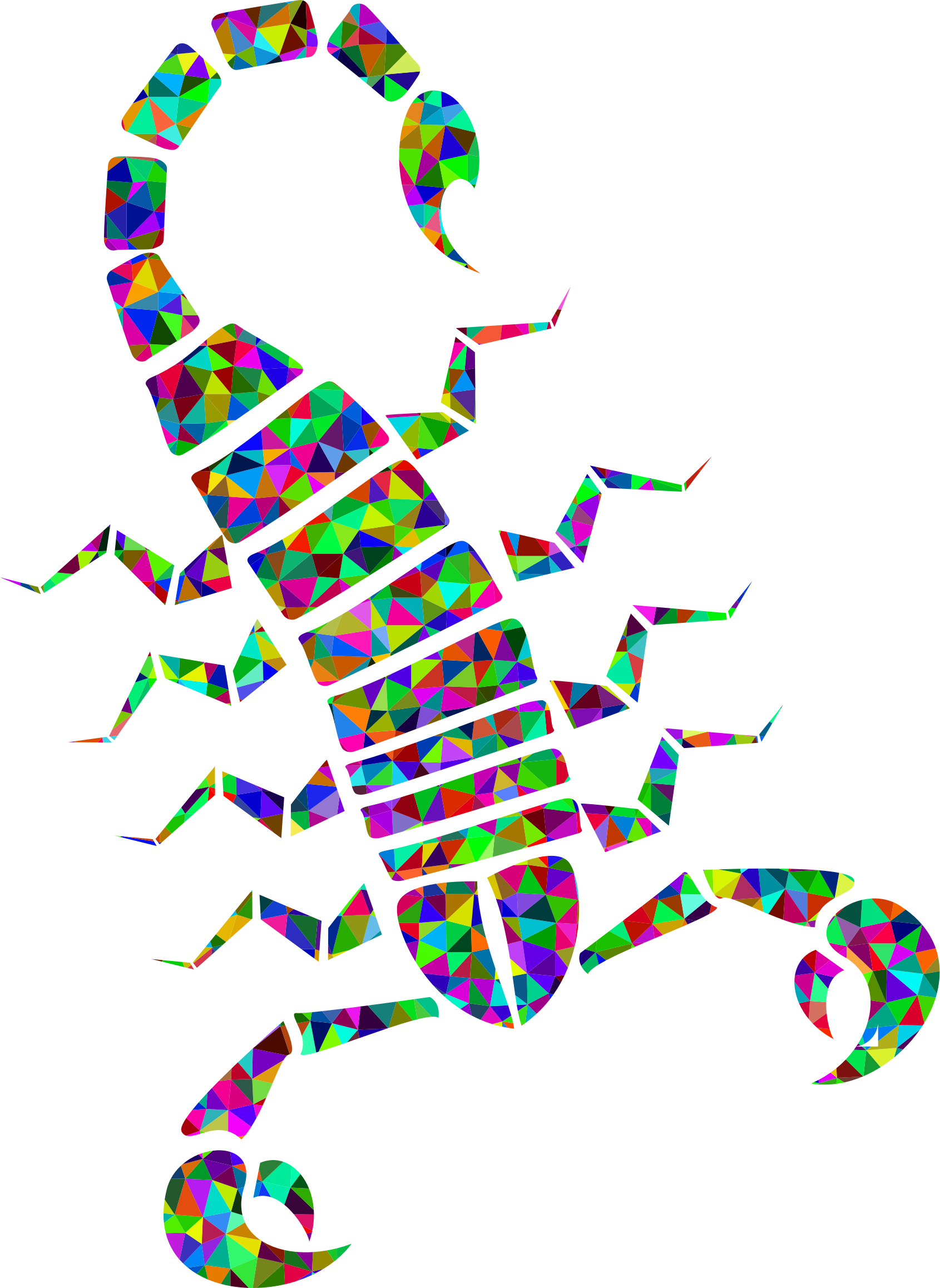 Prismatic Low Poly Tribal Scorpion by GDJ