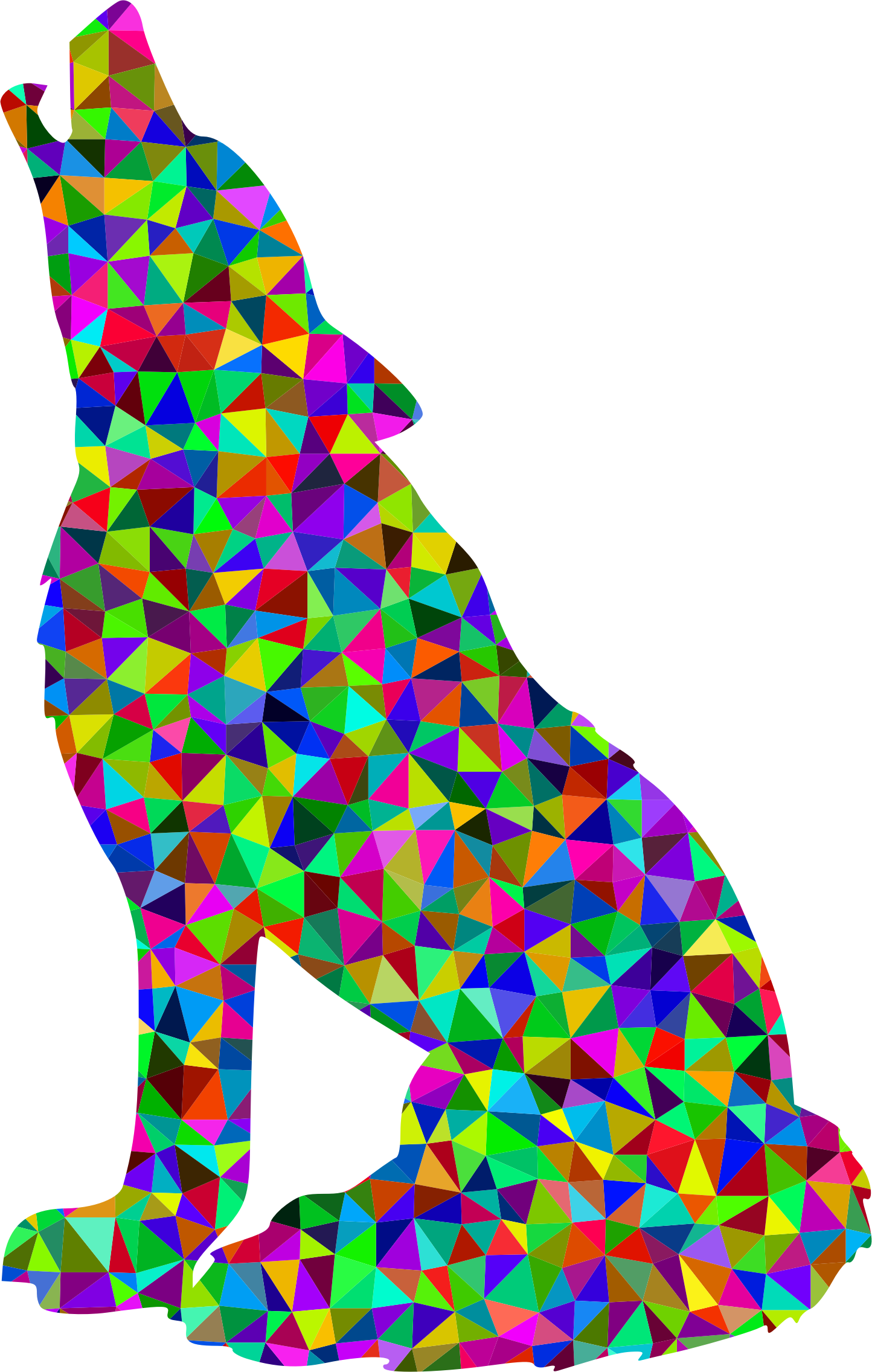 Prismatic Low Poly Wolf by GDJ