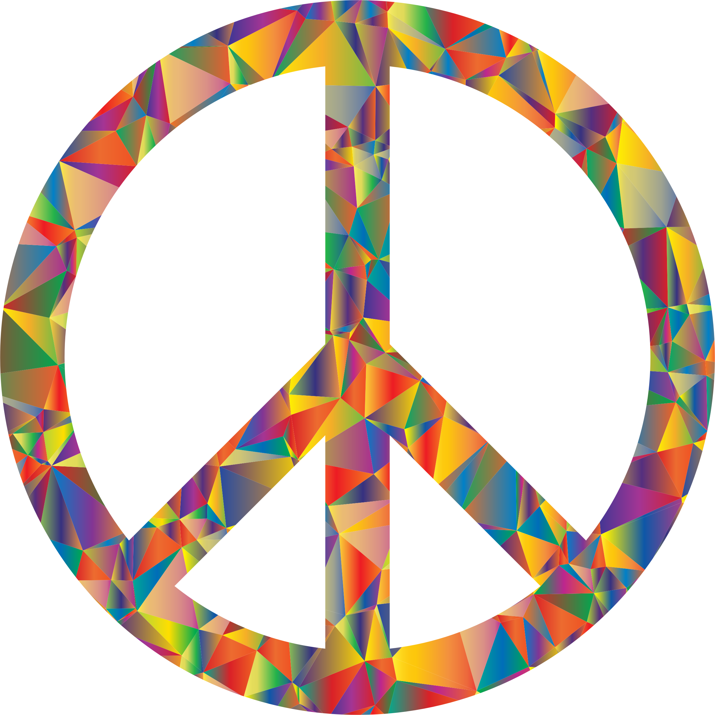 Low Poly Peace Symbol by GDJ