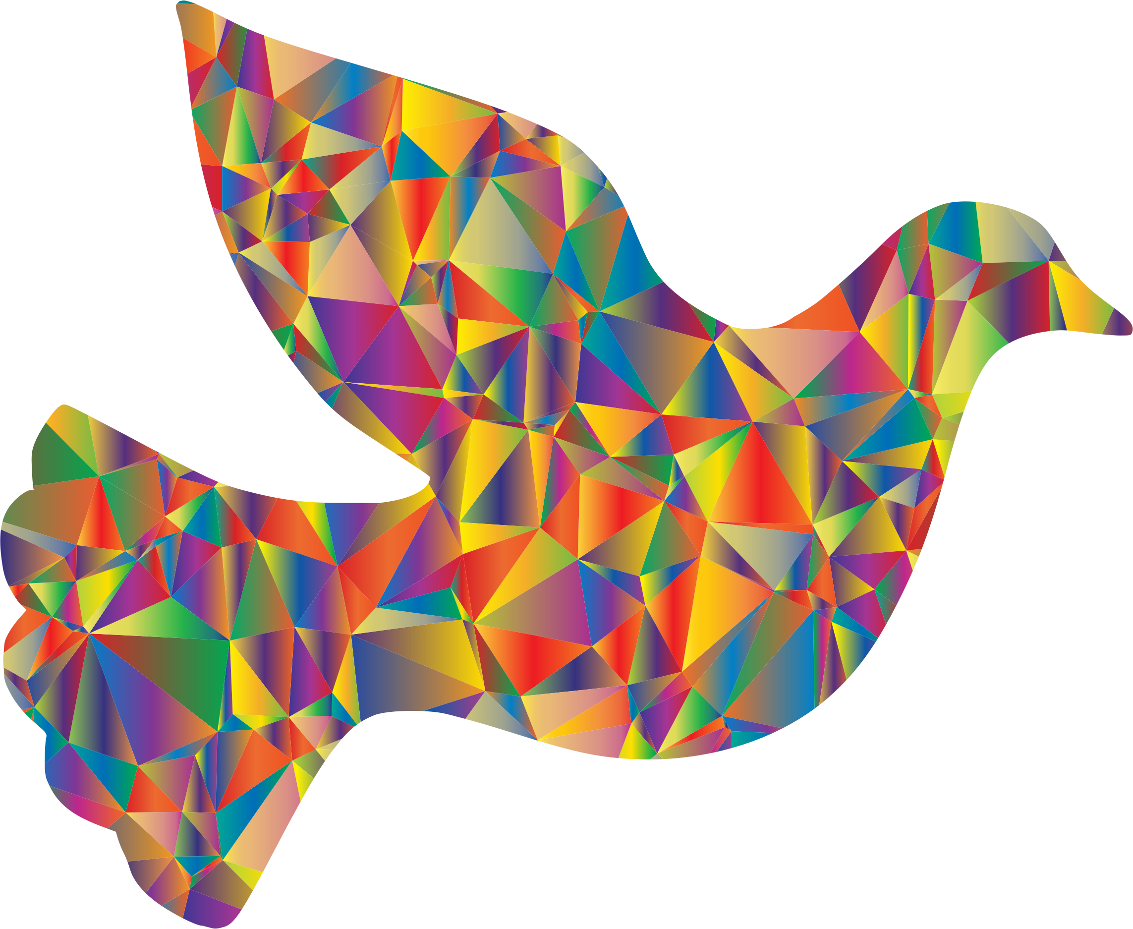 Low Poly Peace Dove by GDJ