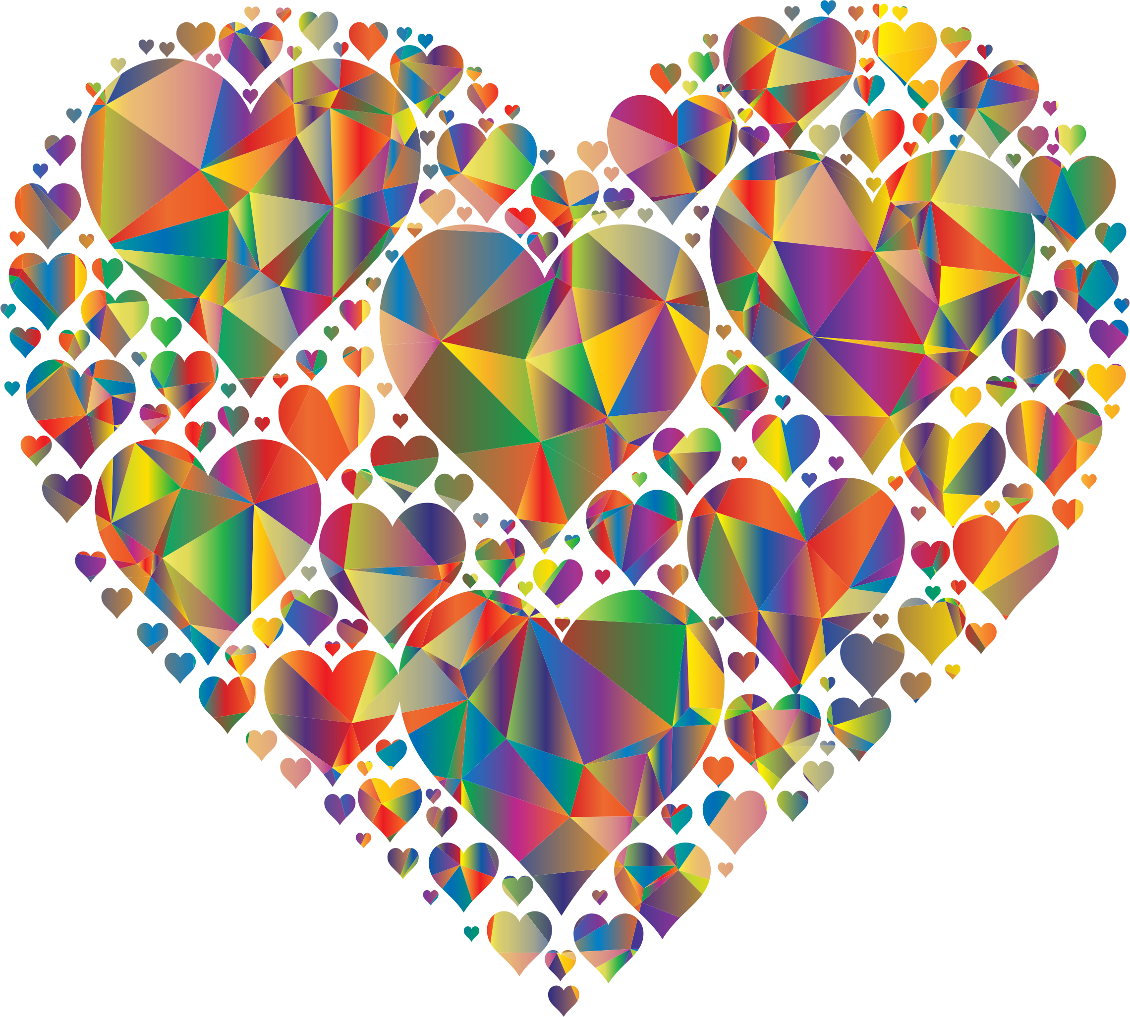 Low Poly Hearts In Heart by GDJ
