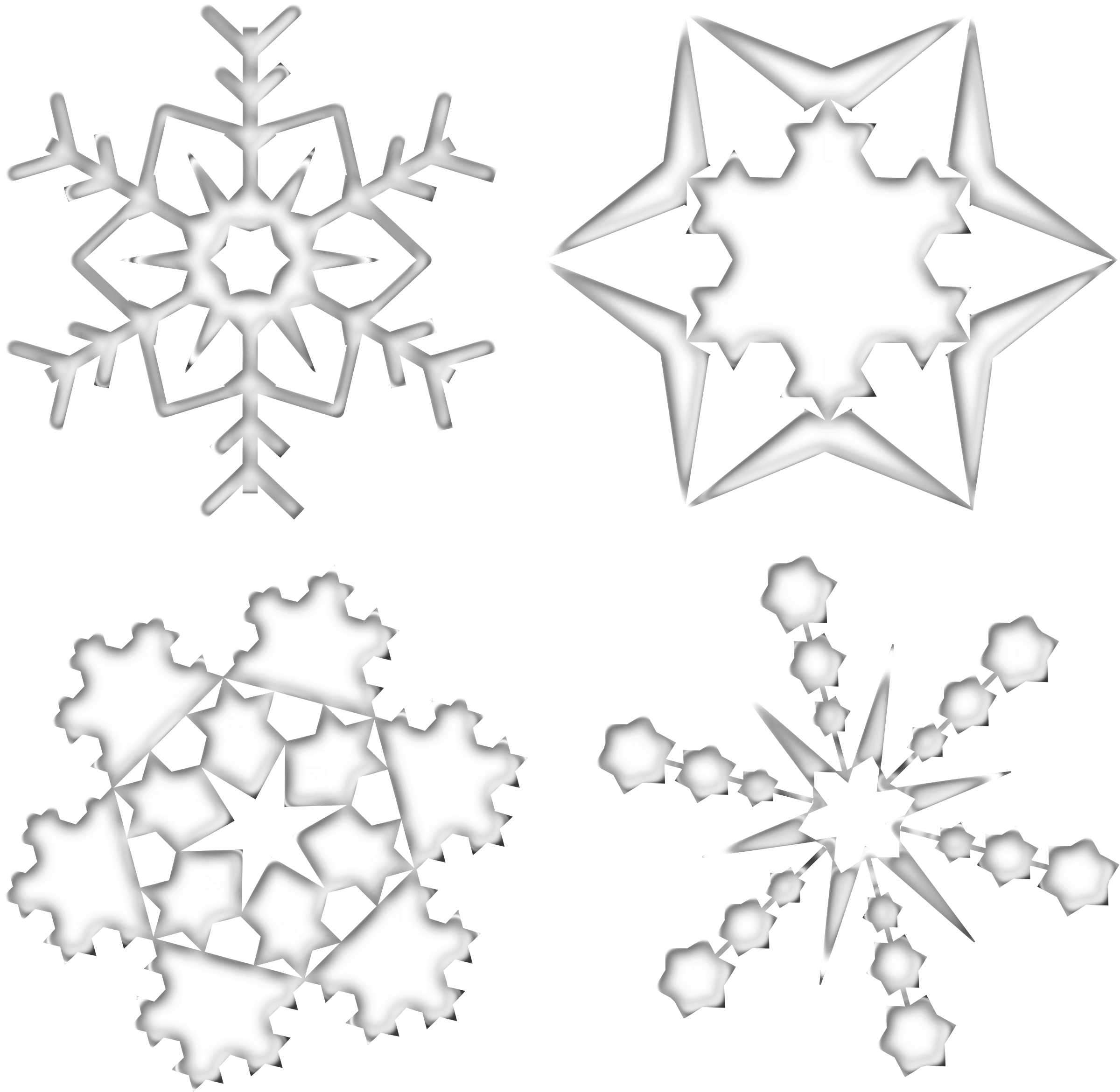 Set Of Four Snowflakes by nobody16