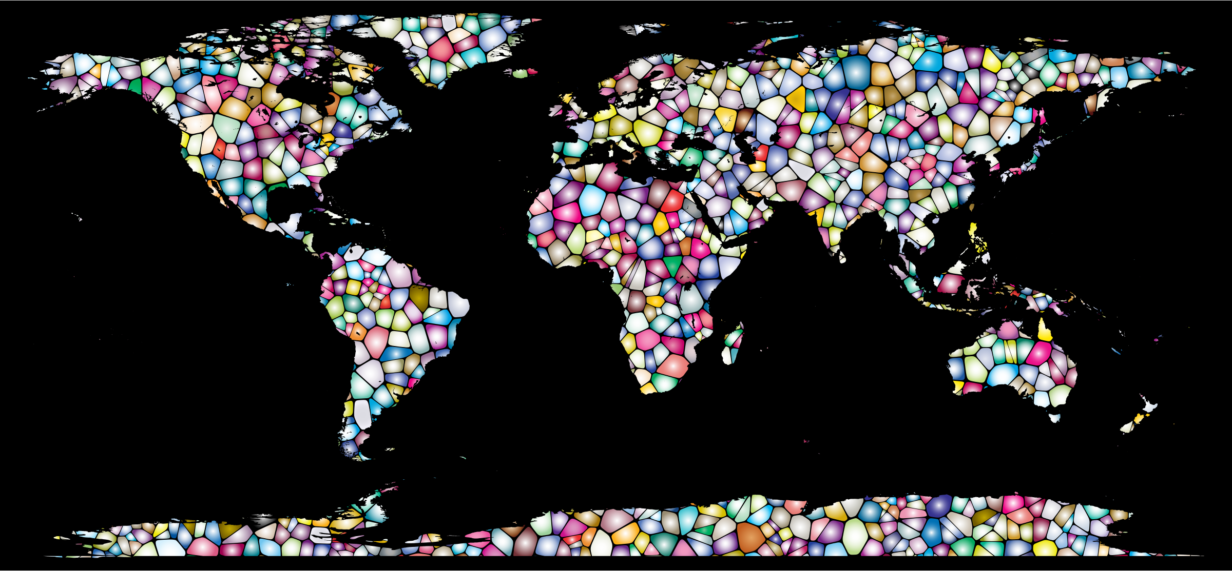 Sweet Tiled World Map by GDJ