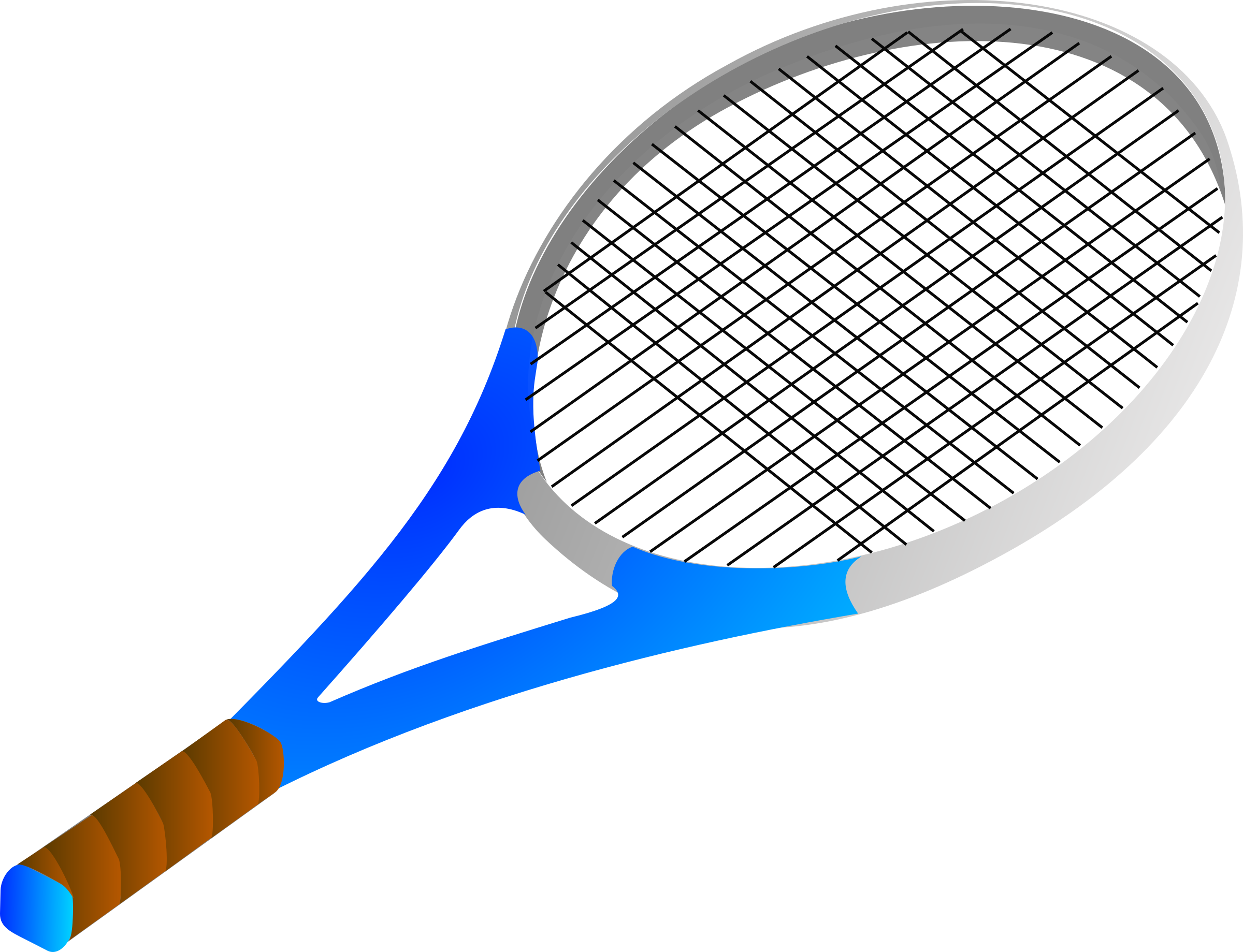 Tennis racket by Anonymous