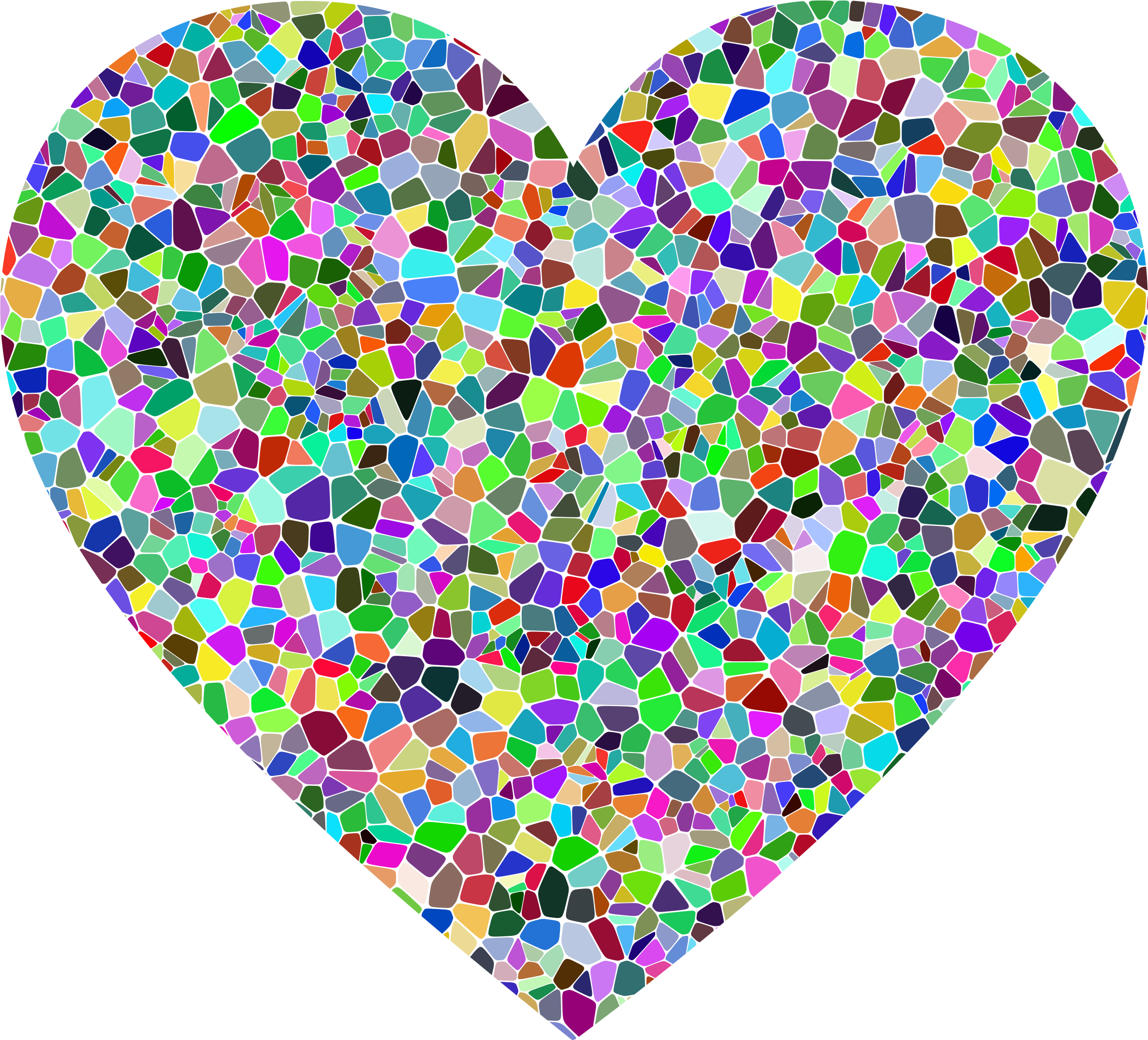 Prismatic Tiled Heart by GDJ