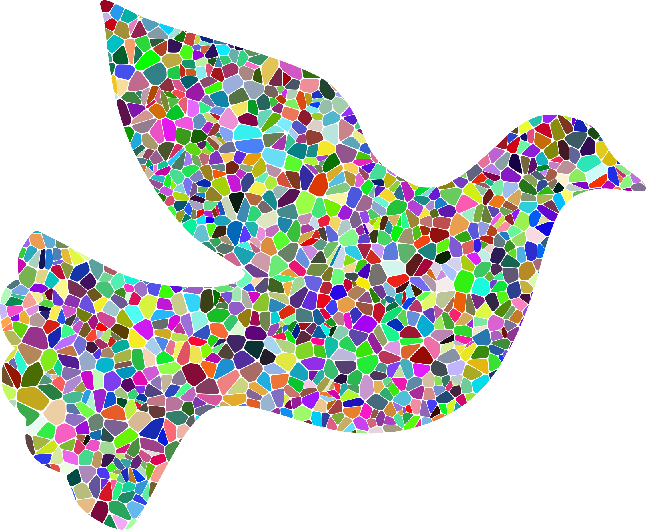 Prismatic Tiled Peace Dove by GDJ