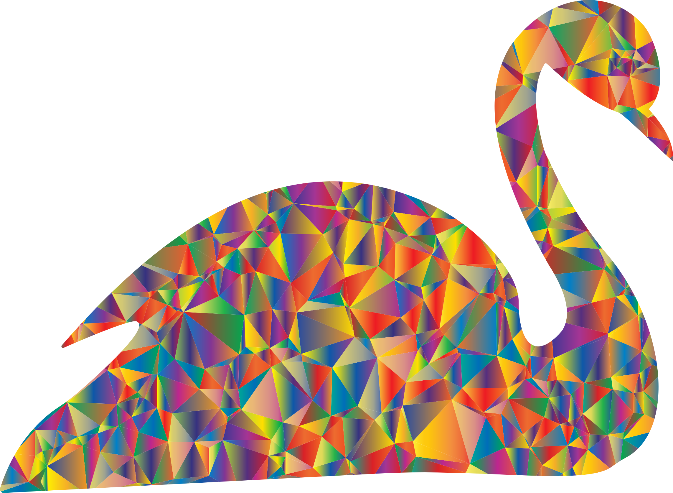 Polyprismatic Low Poly Swan by GDJ