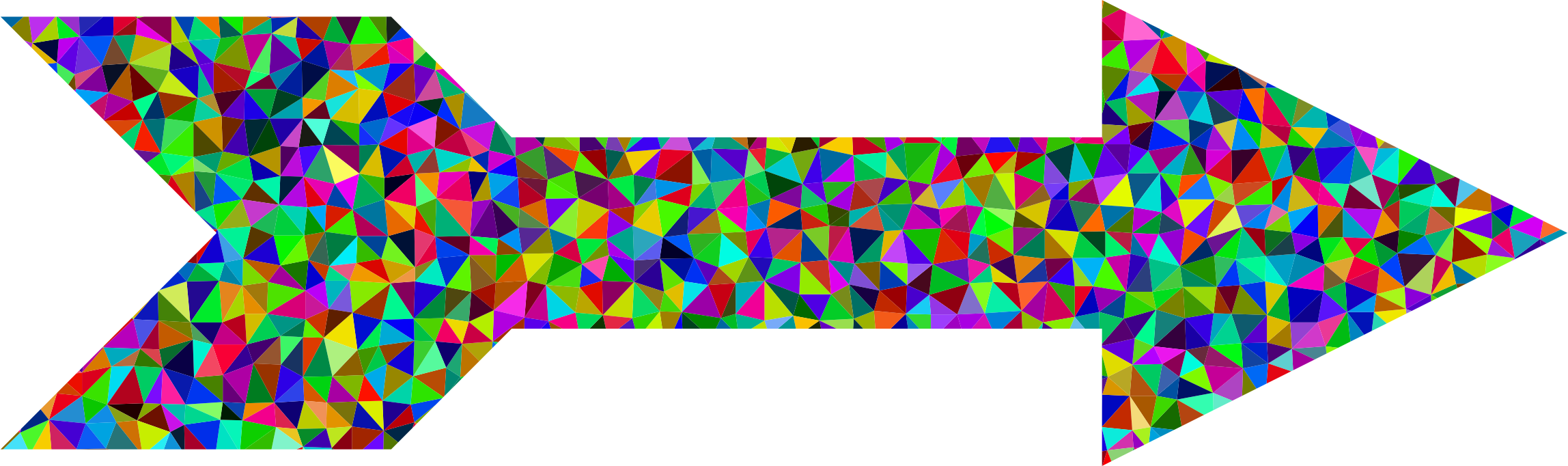 Prismatic Low Poly Arrow by GDJ