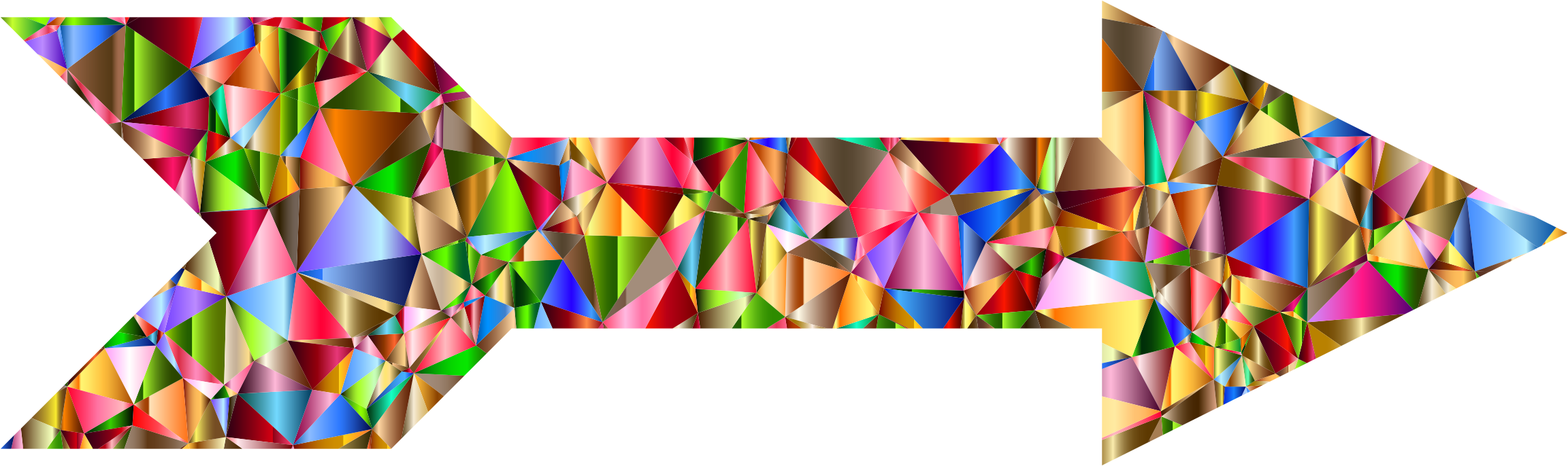 Chromatic Low Poly Arrow by GDJ